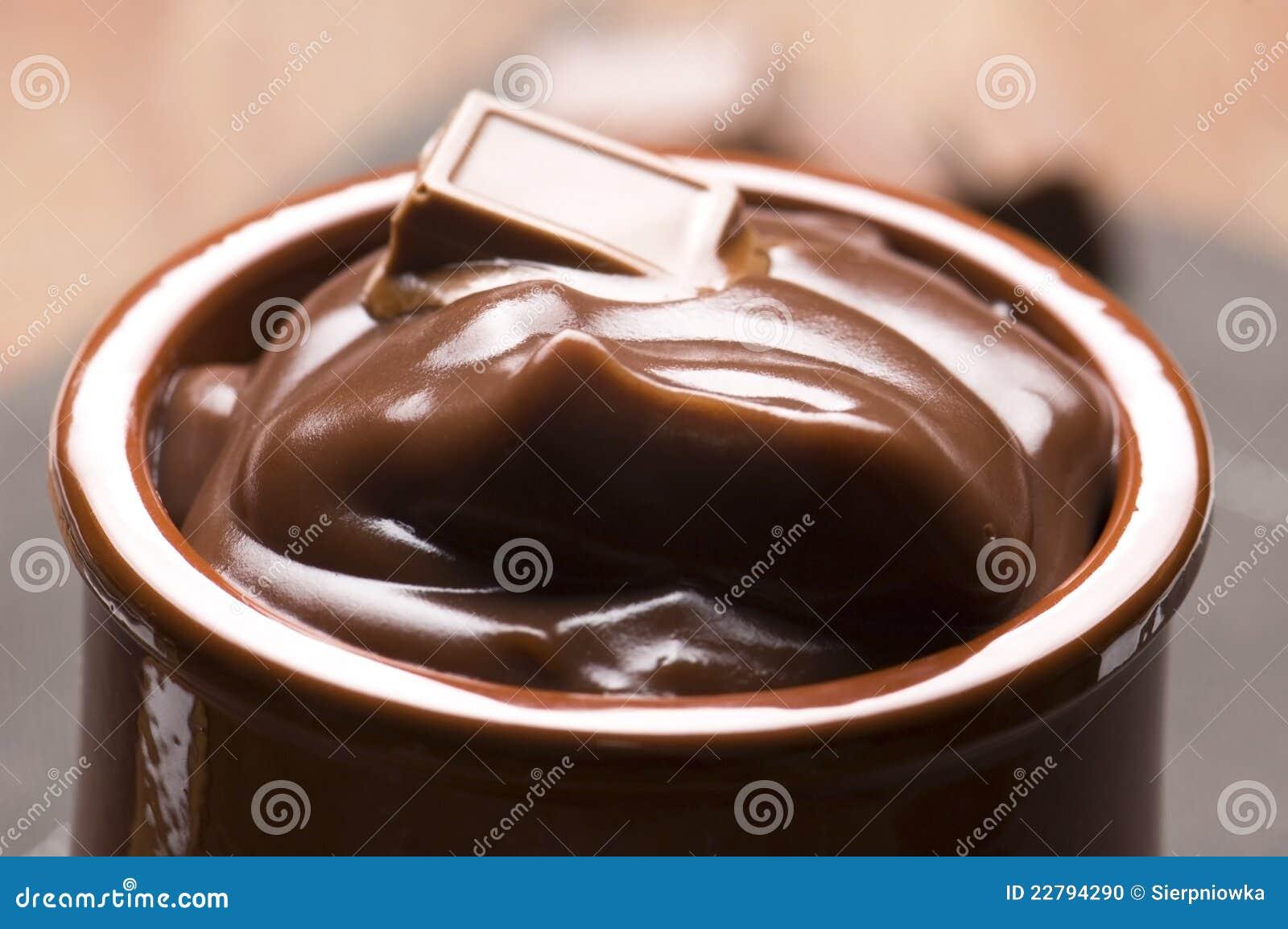 σπιτική πουτίγκα σοκολάτας