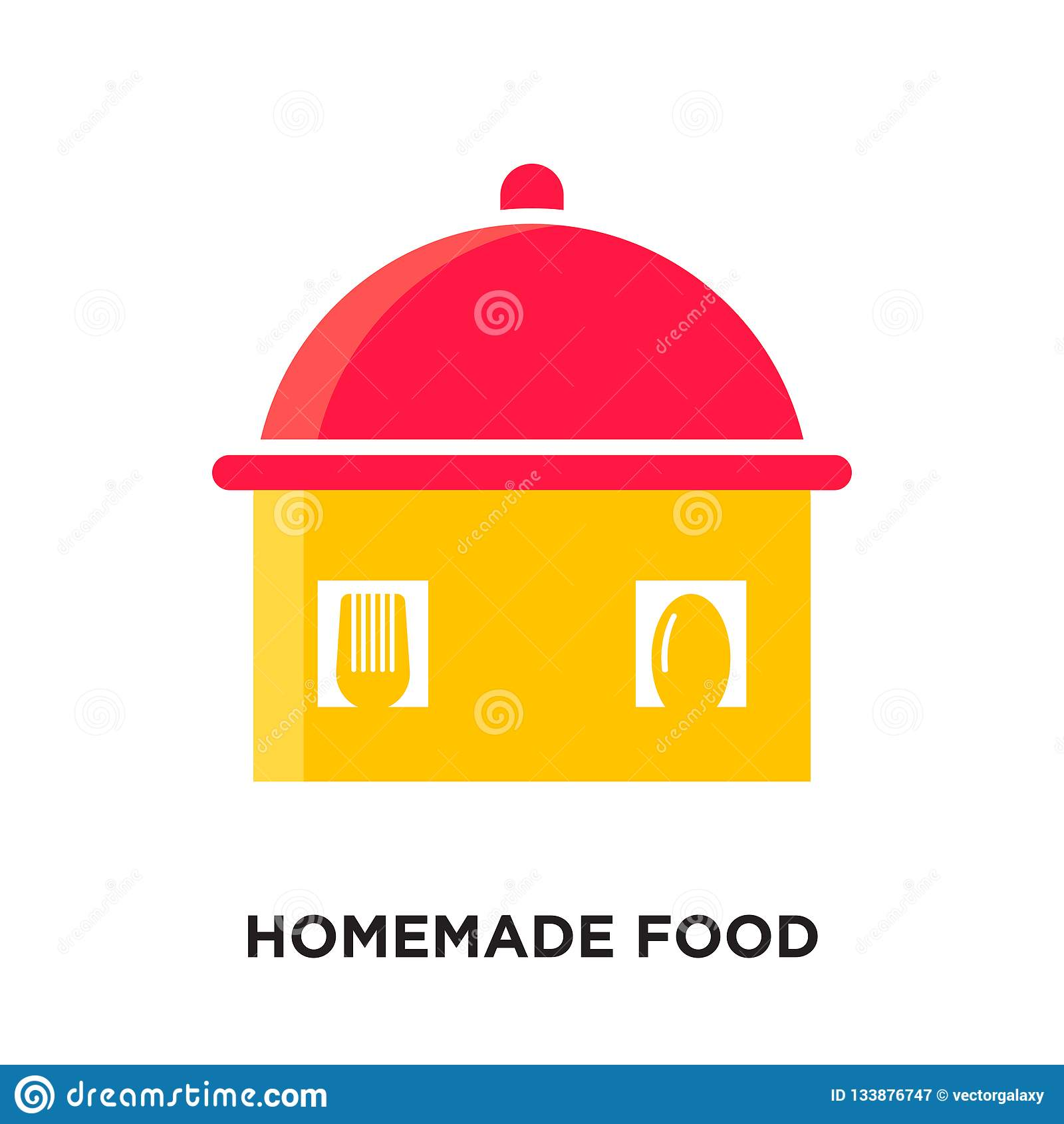 σπιτικό λογότυπο τροφίμων που απομονώνεται στο άσπρο υπόβαθρο για τον Ιστό σας, MO