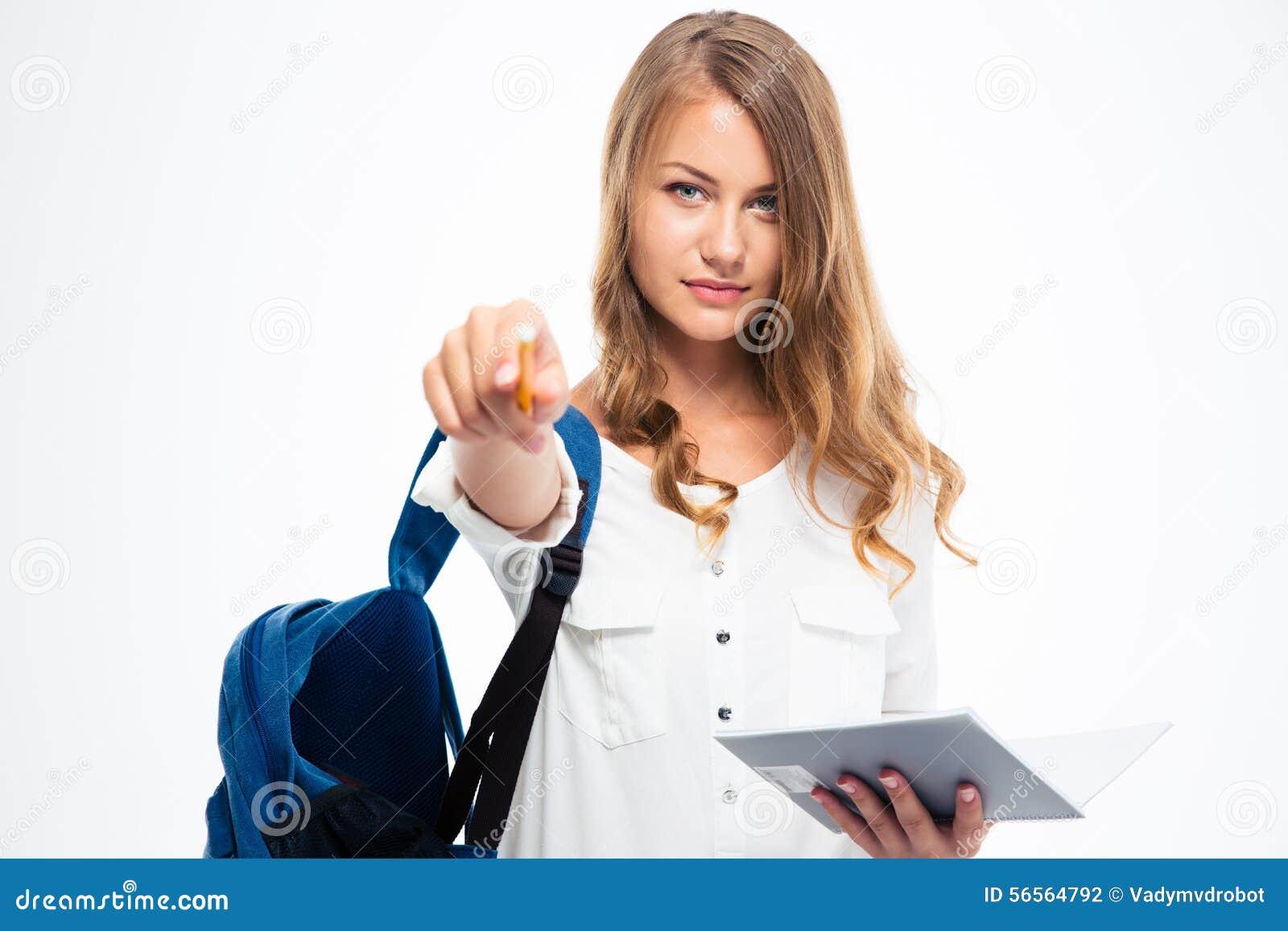 Download Σπουδαστής που δείχνει το μολύβι στη κάμερα Στοκ Εικόνες - εικόνα από σημείωση, κοίταγμα: 56564792