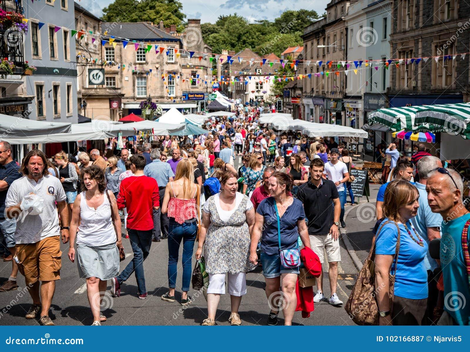 Στάβλοι της αγοράς της Κυριακής Frome στην αγορά