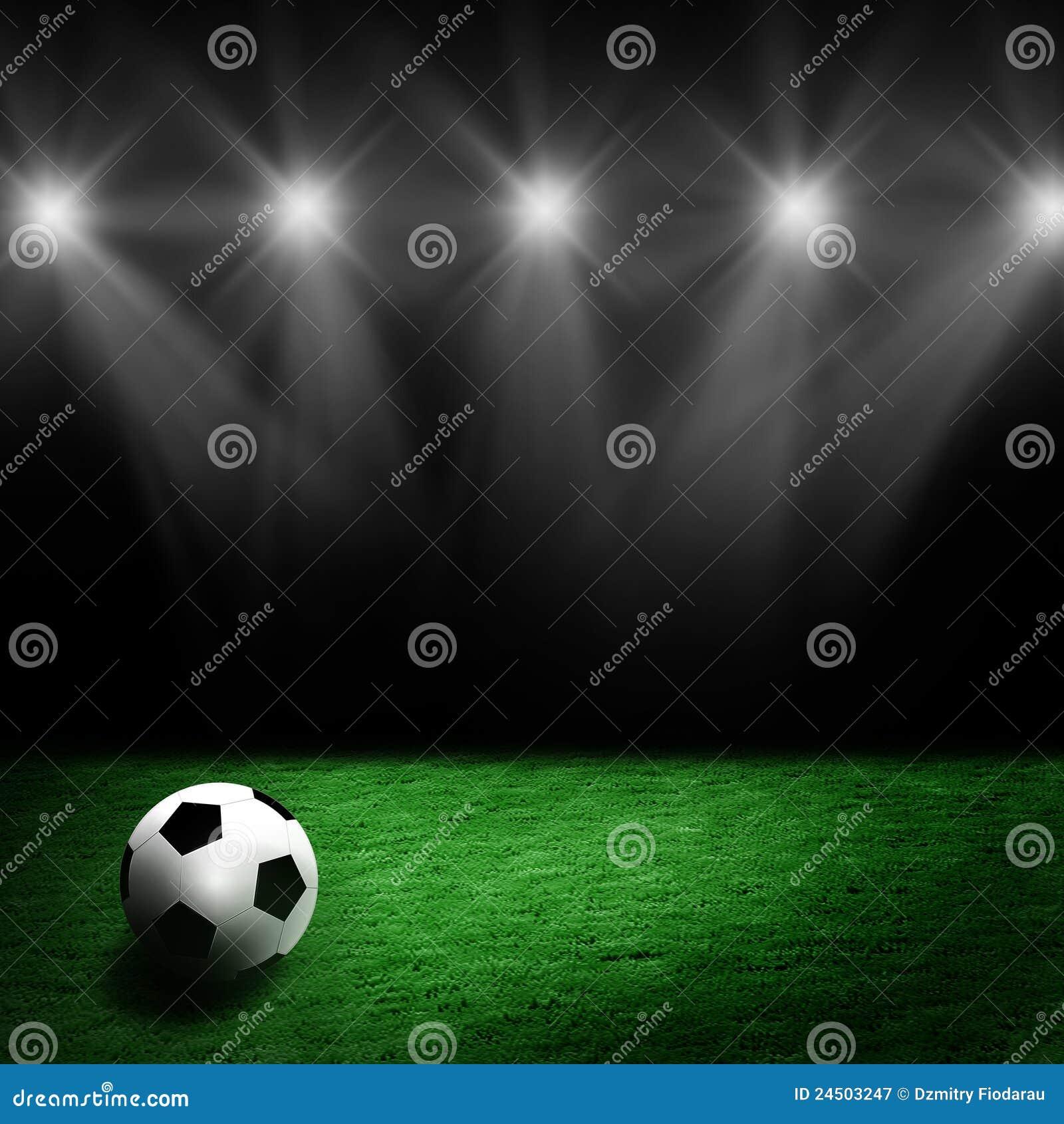 στάδιο ποδοσφαίρου χορτοταπήτων σφαιρών