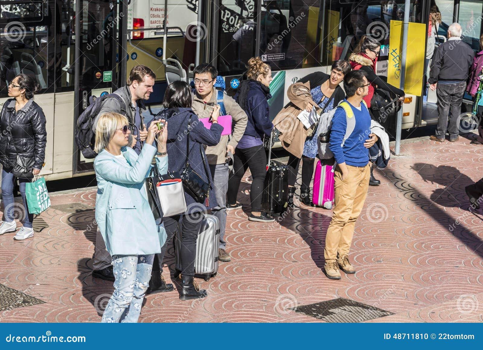 Στάση λεωφορείου στη Βαρκελώνη