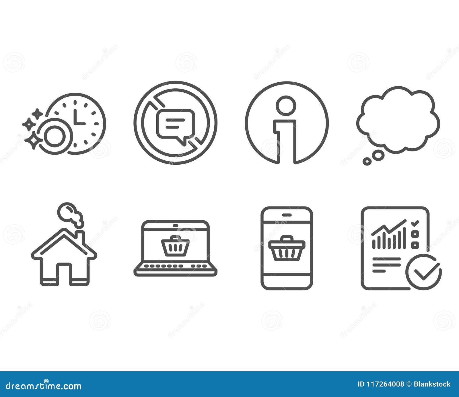 Στάση που μιλά, εικονίδια χρονομέτρων on-line αγορών και πλυντηρίων πιάτων