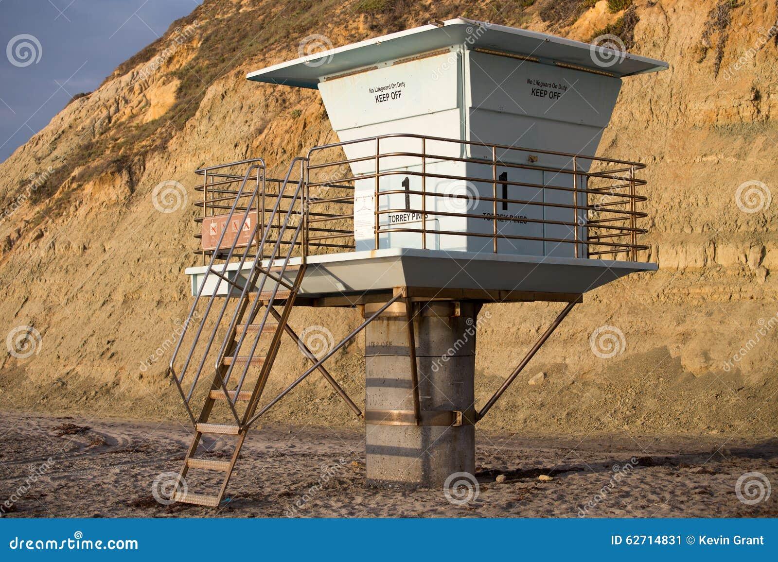 Στάση Lifeguard παραλιών πεύκων Torrey
