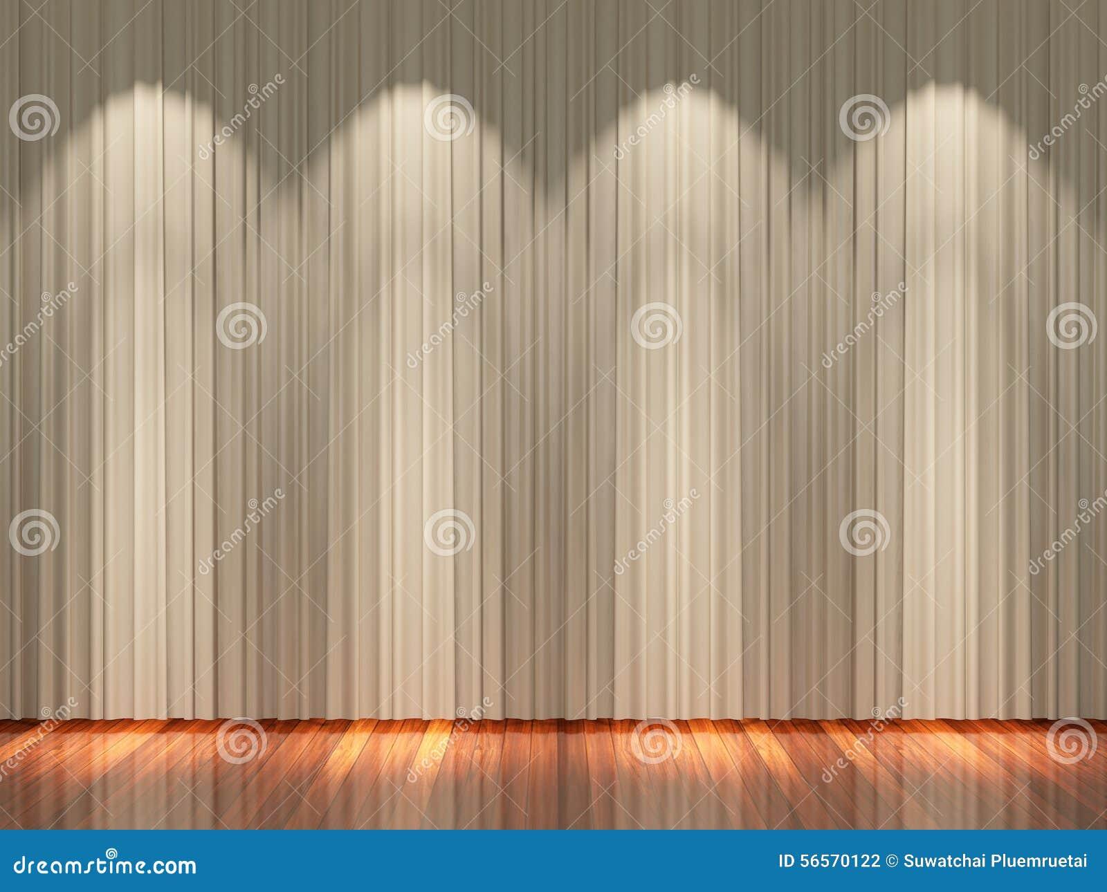 Download Στάδιο με τις ανοικτό καφέ κουρτίνες και το επίκεντρο Στοκ Εικόνες - εικόνα από ανασκόπησης, όπερα: 56570122