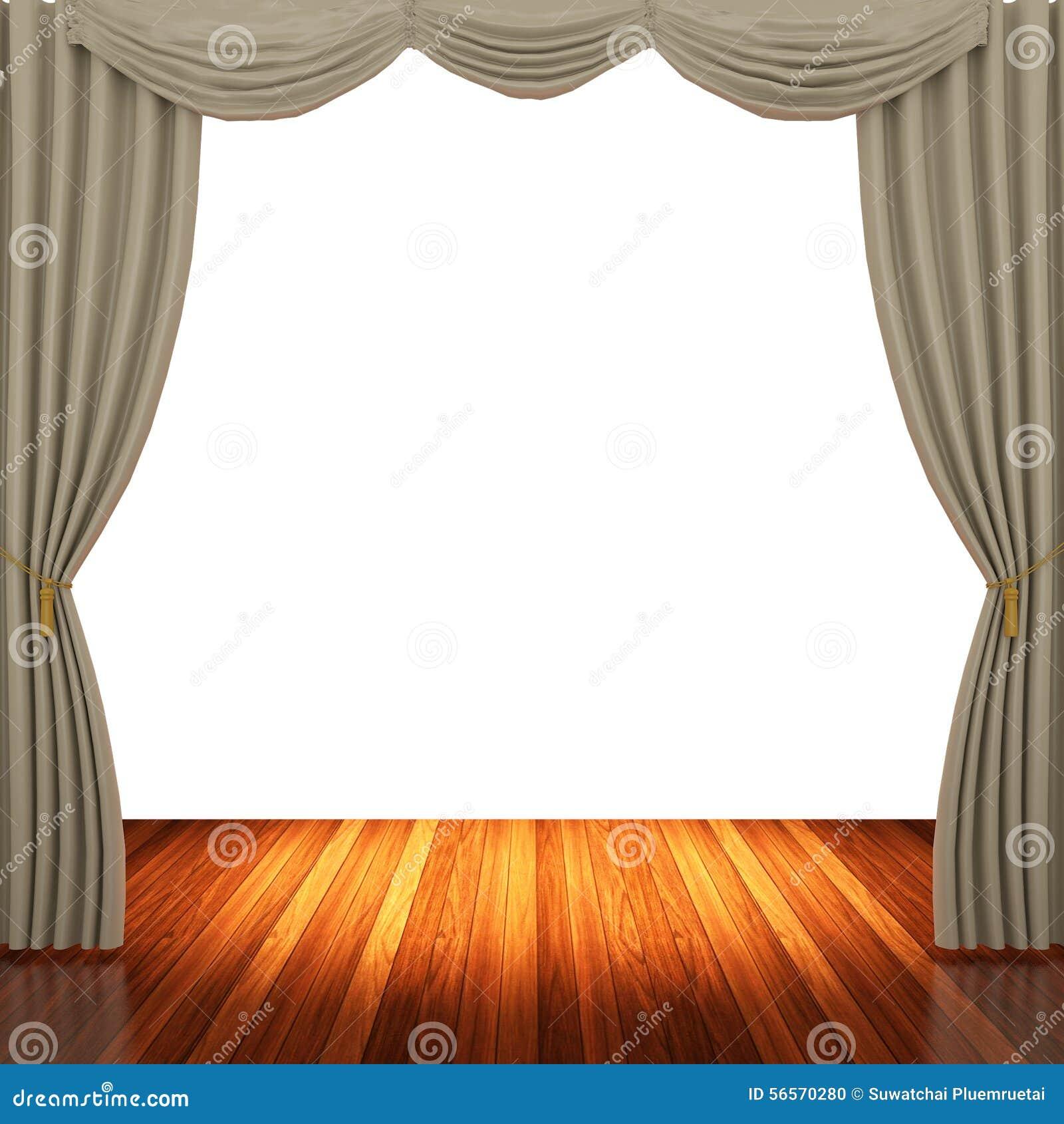 Download Στάδιο με τις ανοικτό καφέ κουρτίνες και το επίκεντρο Απεικόνιση αποθεμάτων - εικονογραφία από δραματικός, απόδοση: 56570280