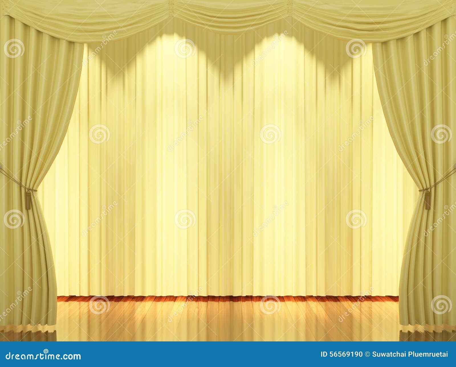 Download Στάδιο με τις κίτρινα κουρτίνες και το επίκεντρο Απεικόνιση αποθεμάτων - εικονογραφία από δημόσιος, ψυχαγωγία: 56569190
