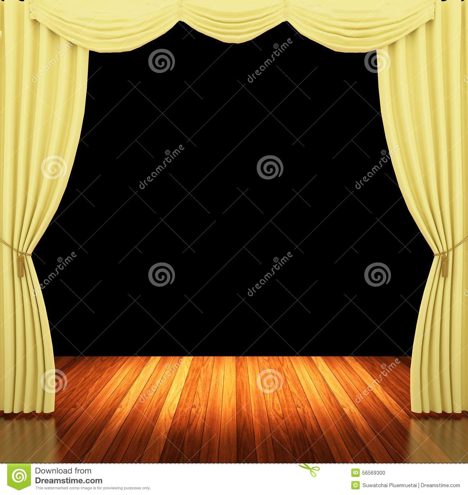 Download Στάδιο με τις κίτρινα κουρτίνες και το επίκεντρο Απεικόνιση αποθεμάτων - εικονογραφία από κλασσικός, ροζ: 56569300