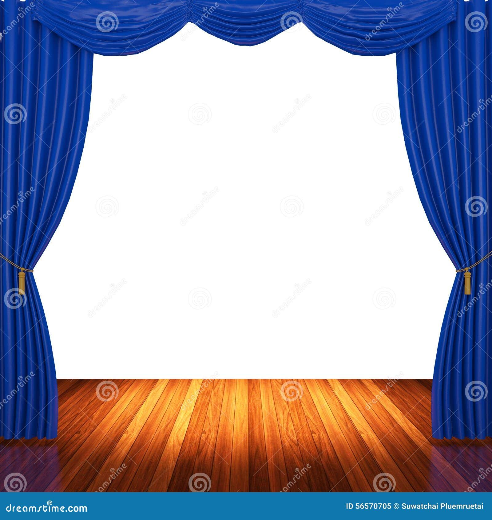 Download Στάδιο με τις μπλε κουρτίνες και το επίκεντρο Στοκ Εικόνα - εικόνα από ορχήστρα, όπερα: 56570705
