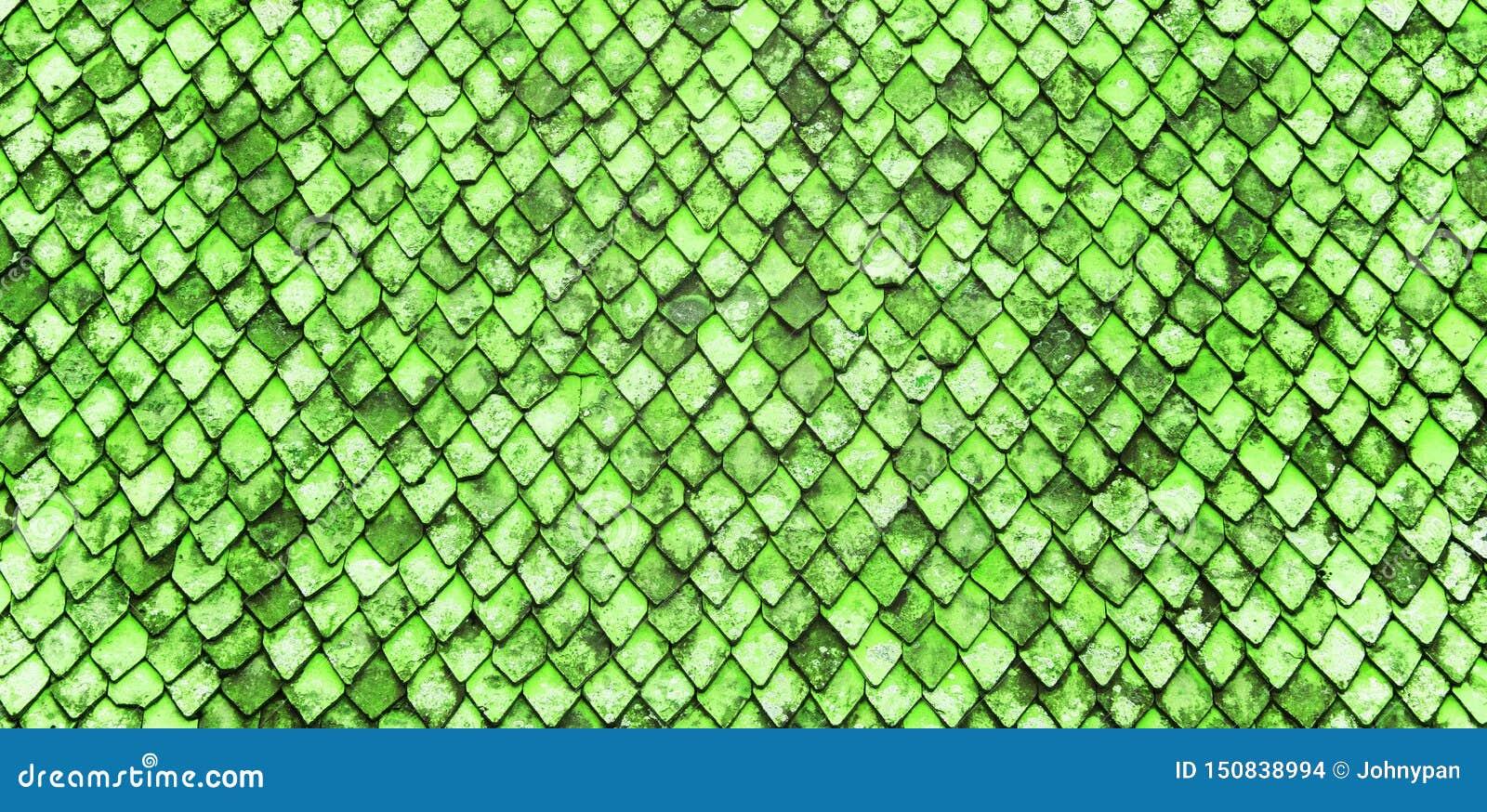 Στέγη φιαγμένη από πράσινα κεραμίδια