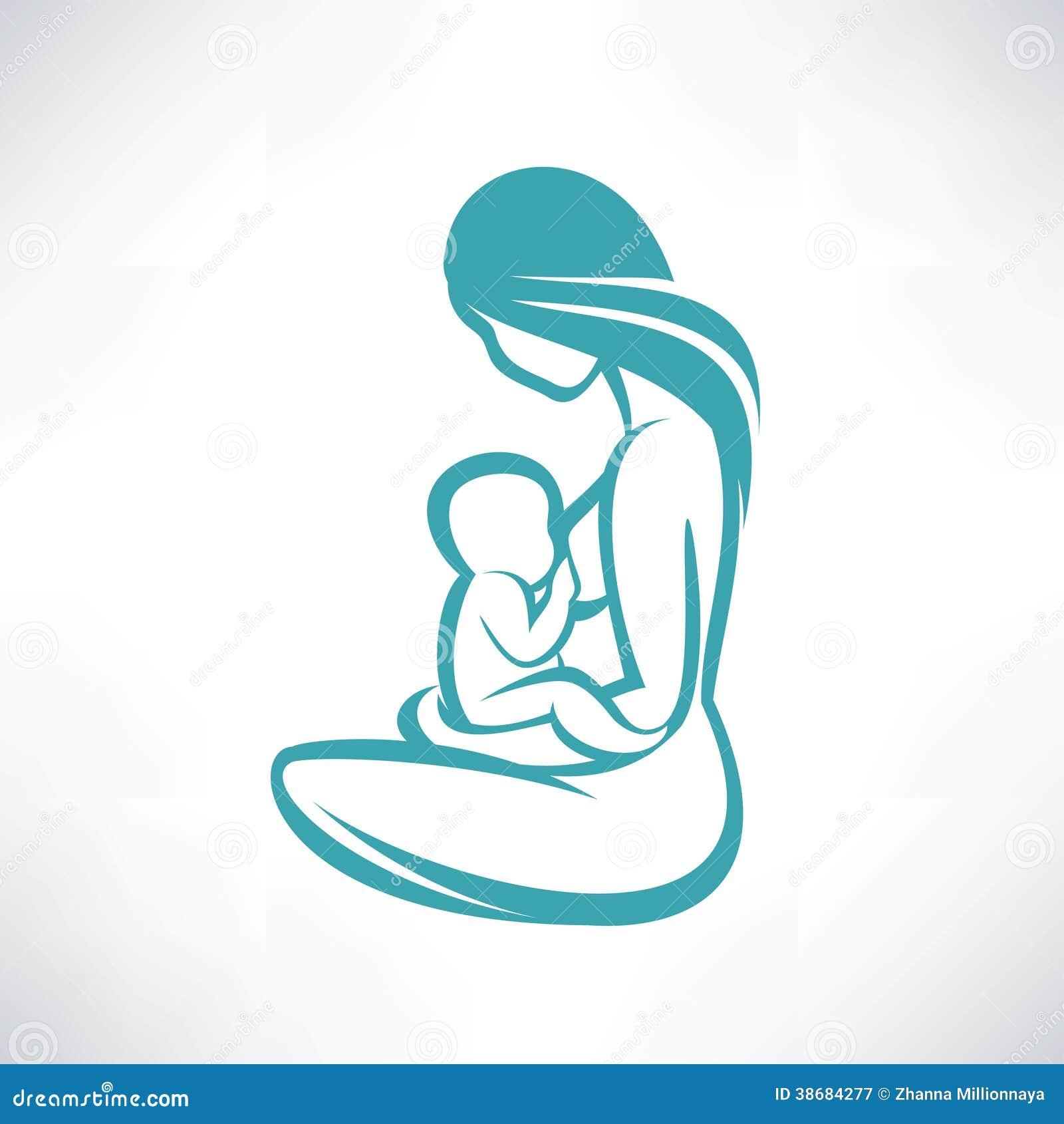 Στήθος μητέρων - που ταΐζει το μωρό της