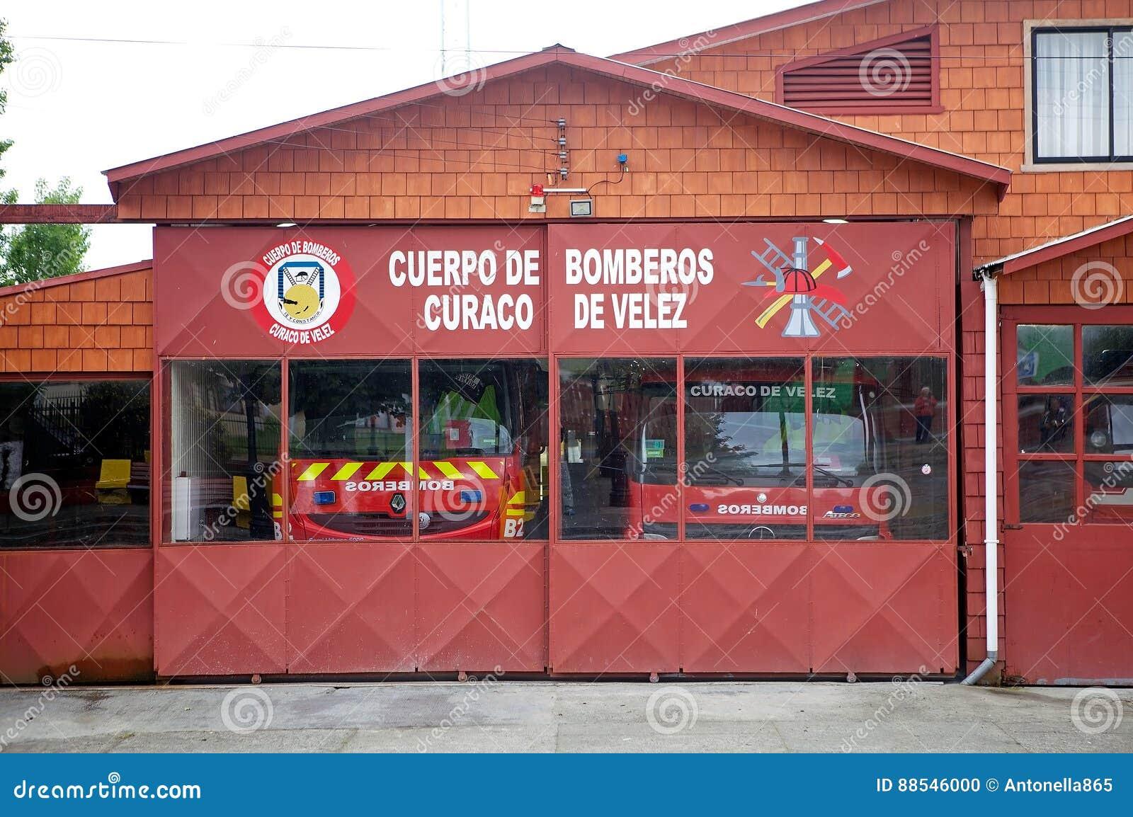 Σταθμός πυροσβεστικής υπηρεσίας ` s Curaco de Velez, νησί Quinchao, Χιλή