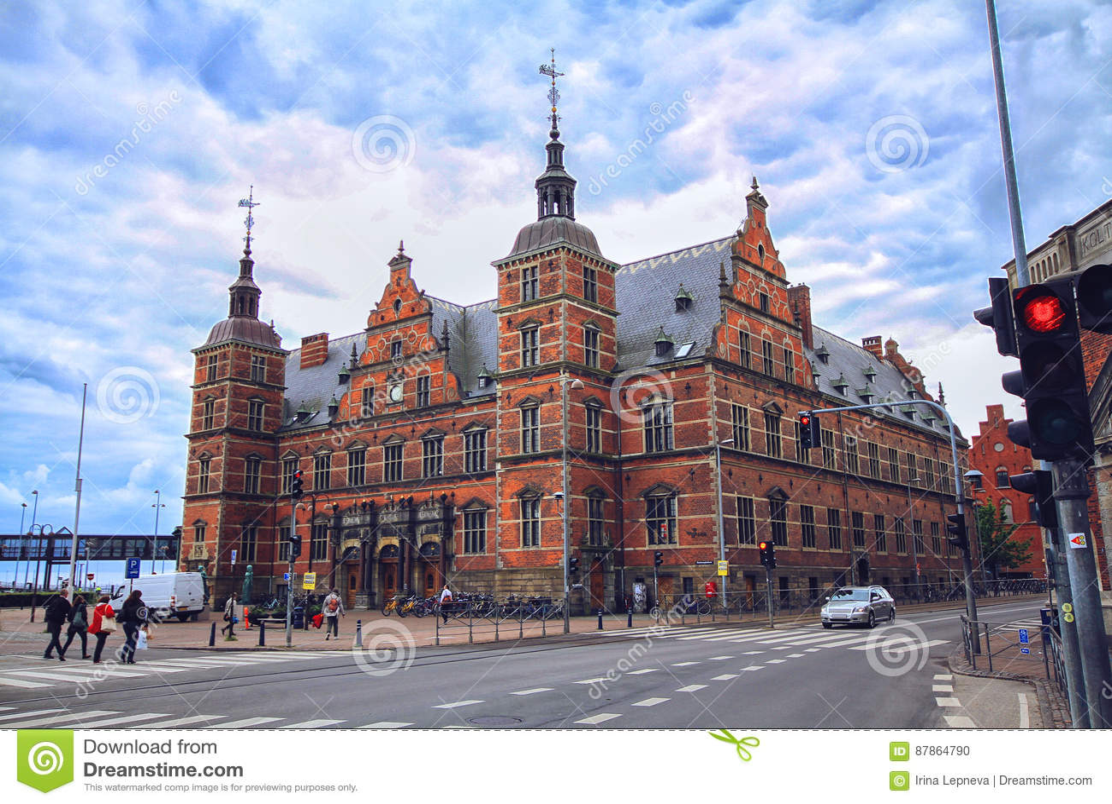 Σταθμός τρένου Helsingor στη Δανία, Ευρώπη