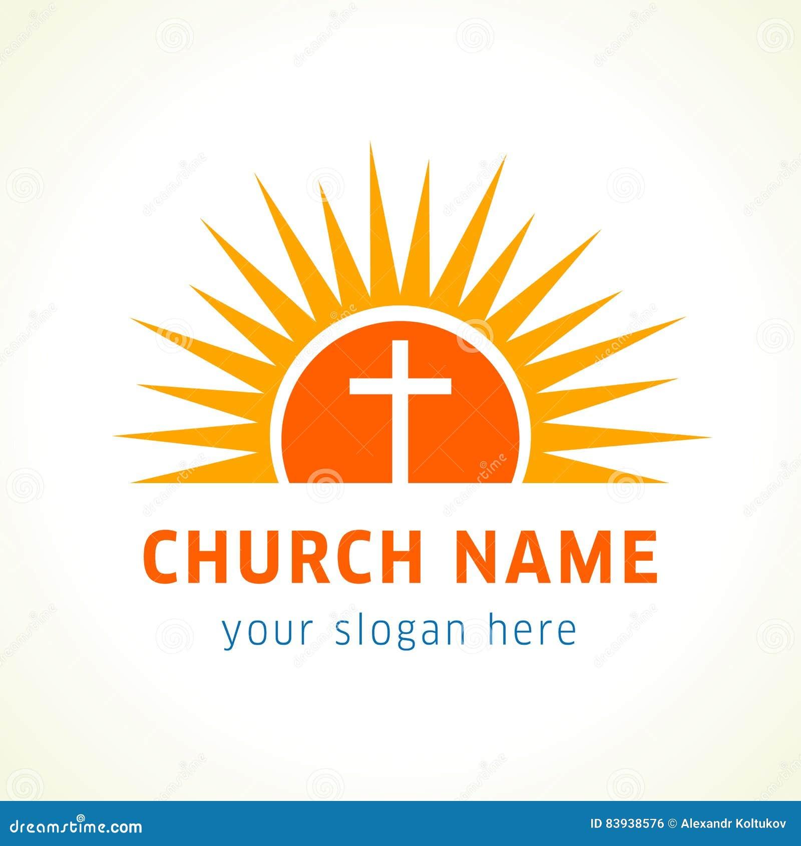 Σταυρός στο λογότυπο εκκλησιών ήλιων