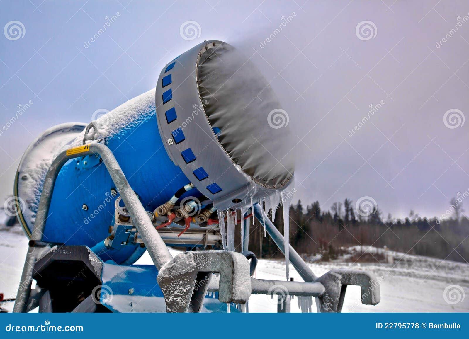 στενά snowflakes χιονιού παραγωγής πυροβόλων επάνω