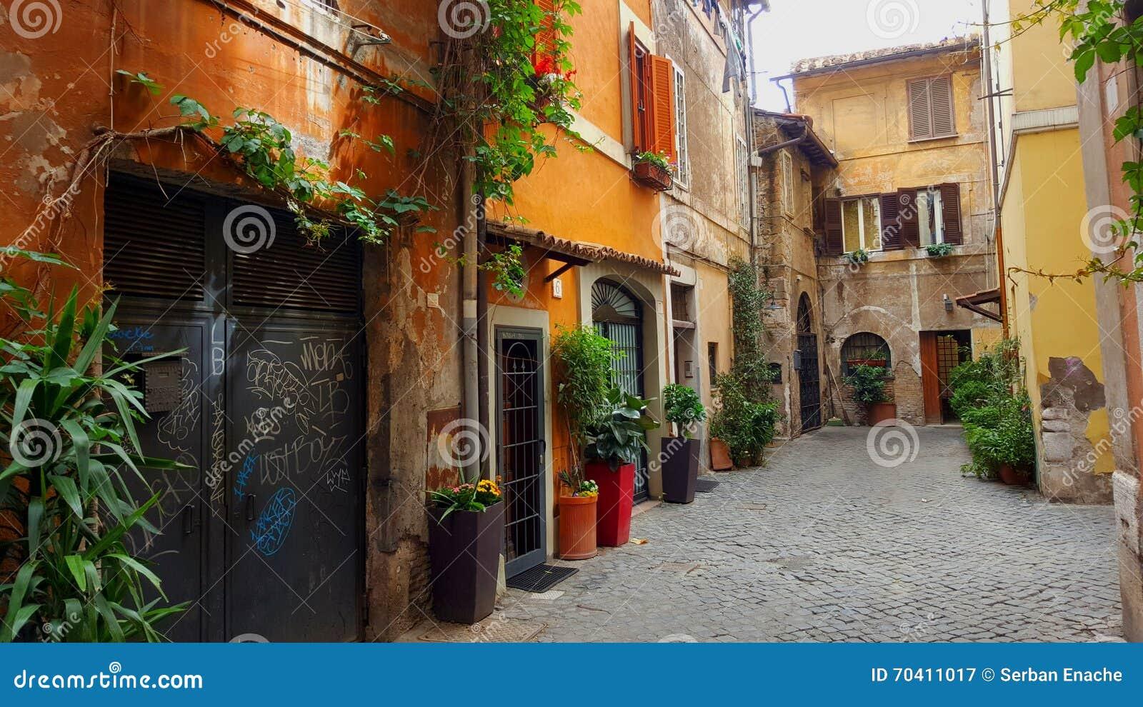 Στενή στενωπός, Trastevere, Ρώμη, Ιταλία