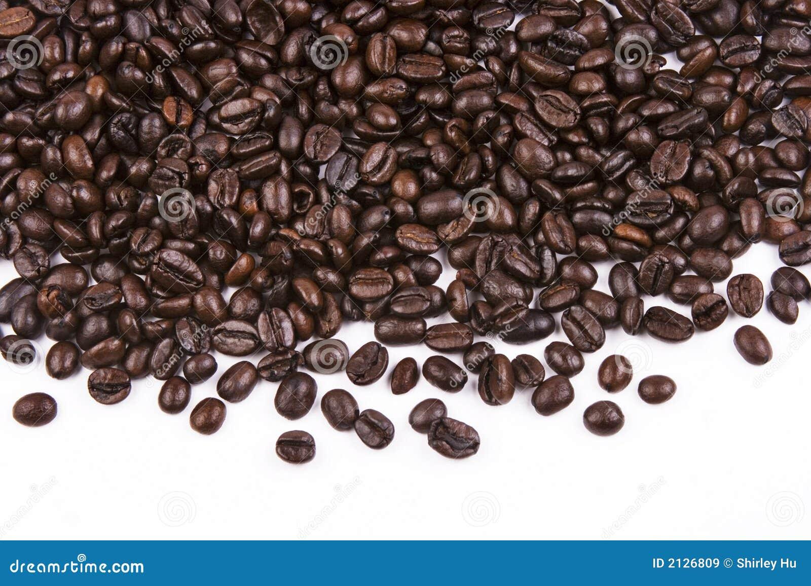 στενός καφές φασολιών επάνω