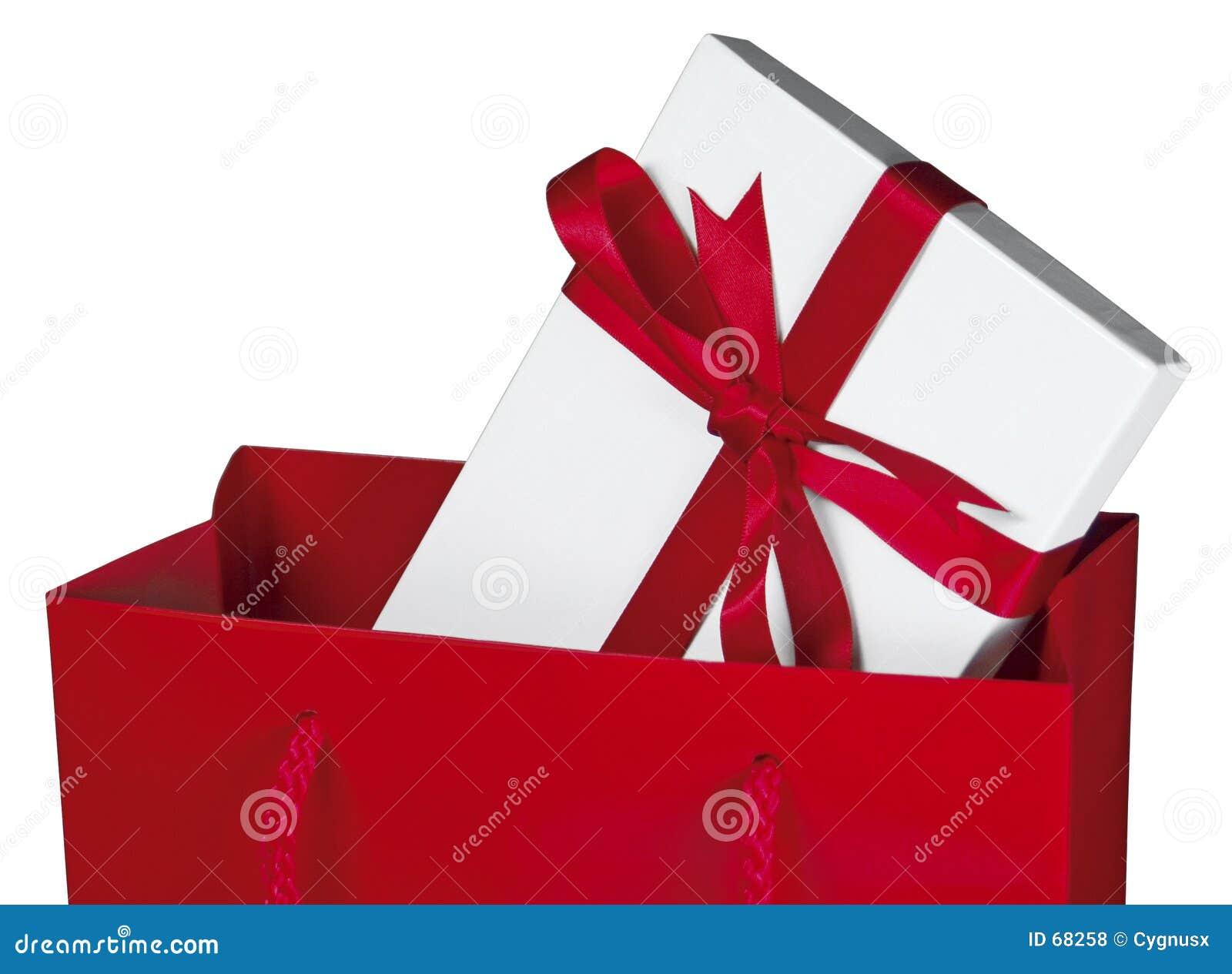 στενό κόκκινο δώρων τσαντών επάνω