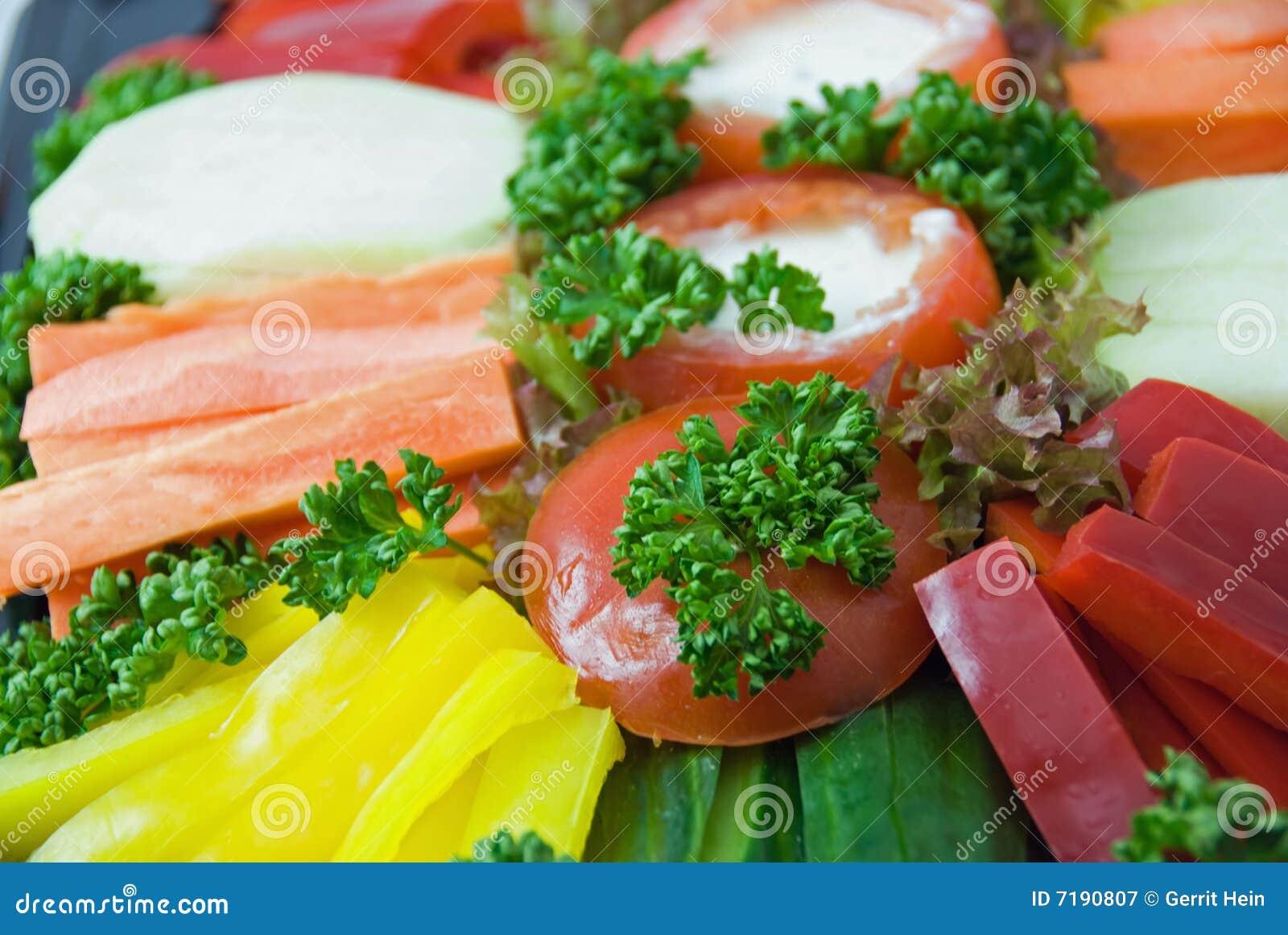 στενό λαχανικό πιάτων επάνω
