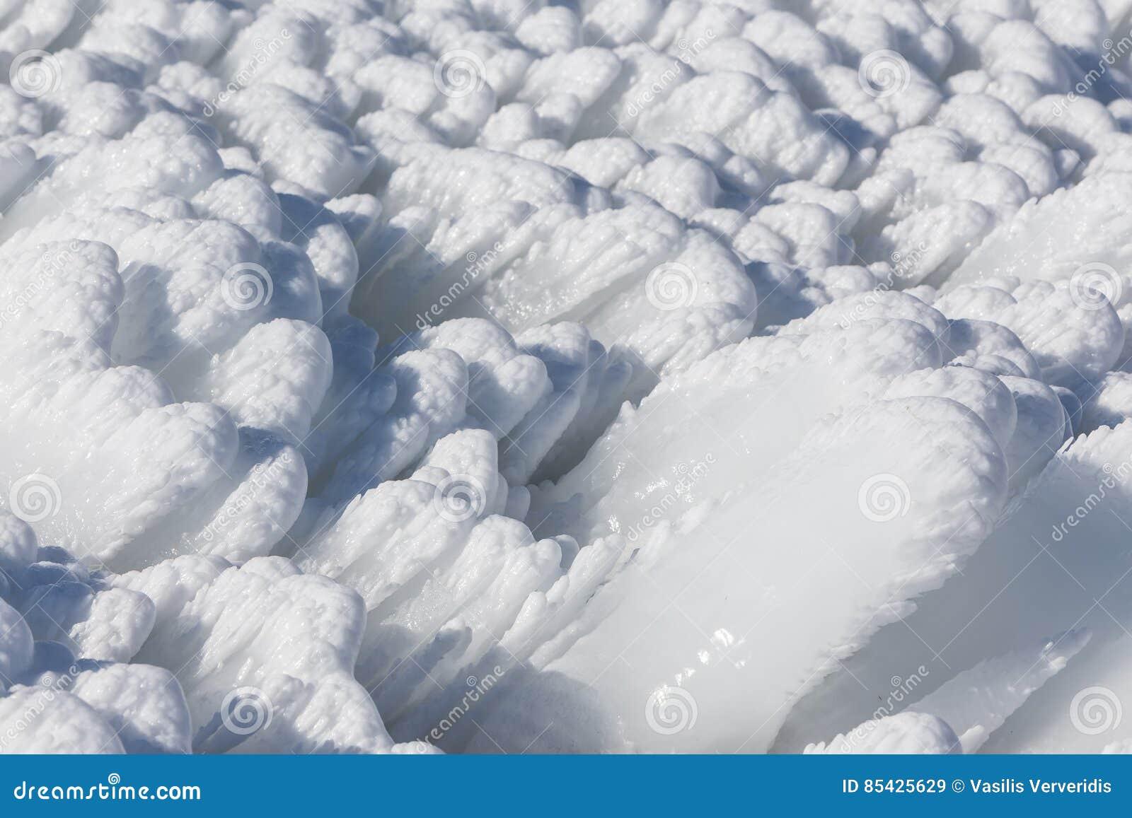 στενό χιόνι επάνω