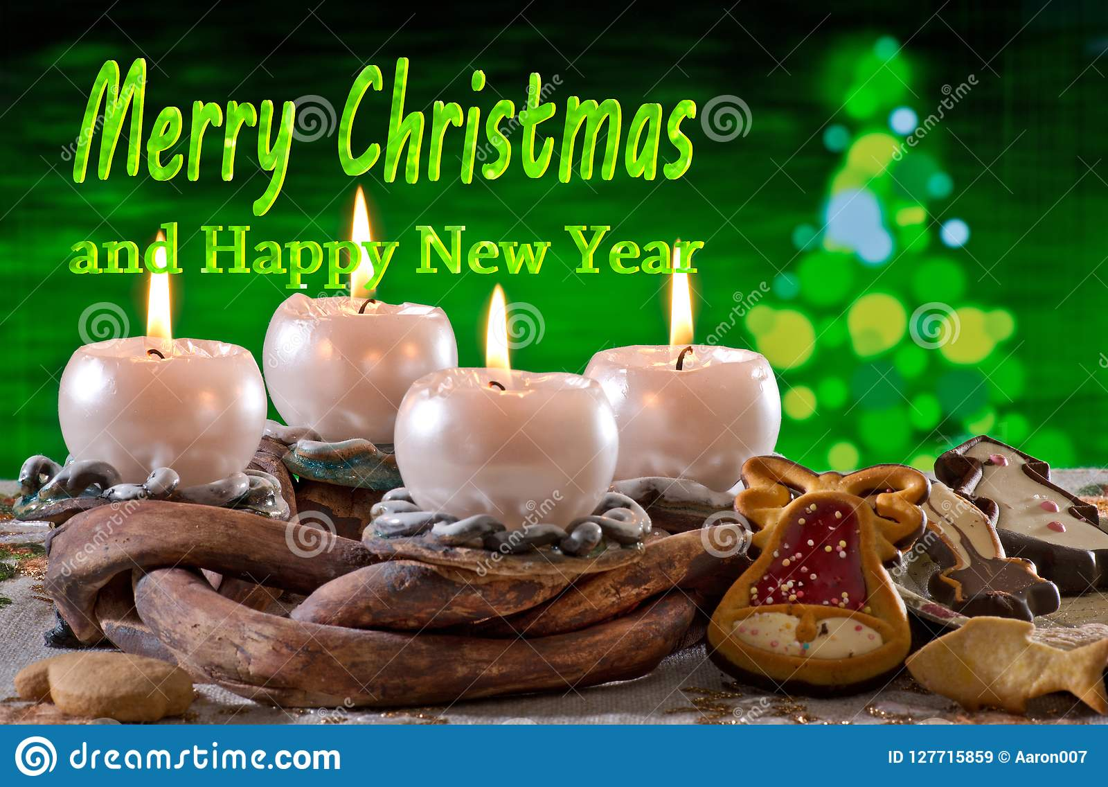 Στεφάνι εμφάνισης με τη Χαρούμενα Χριστούγεννα κειμένων