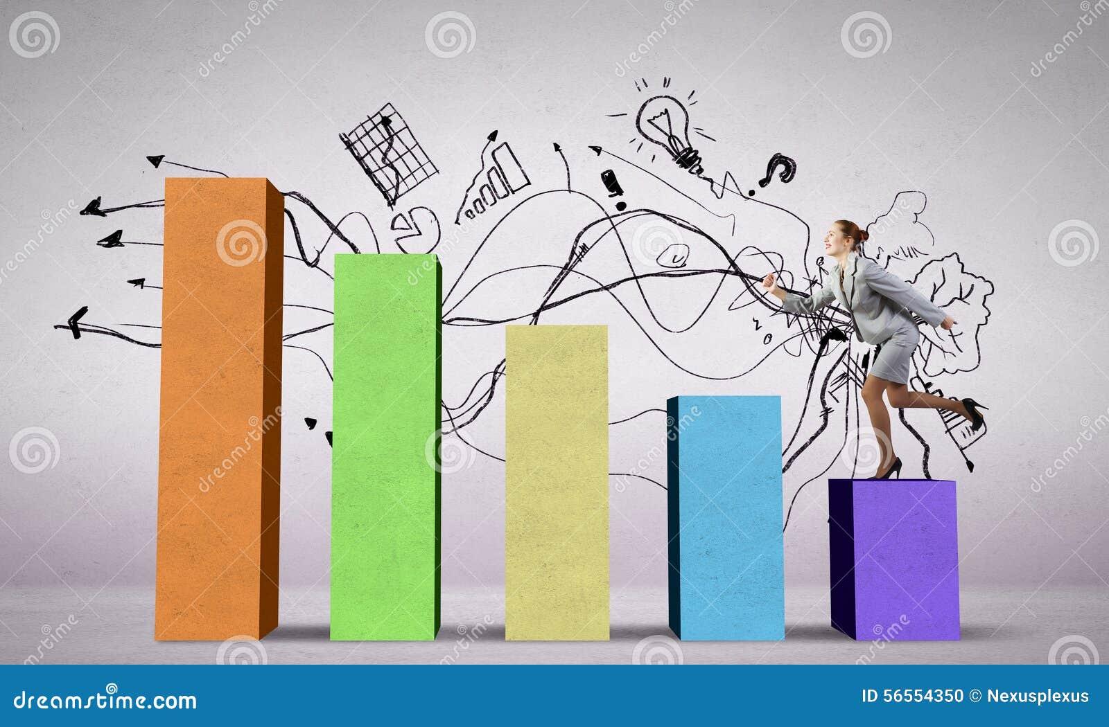 Download Στη σκάλα επιτυχίας στοκ εικόνες. εικόνα από graph, περπάτημα - 56554350