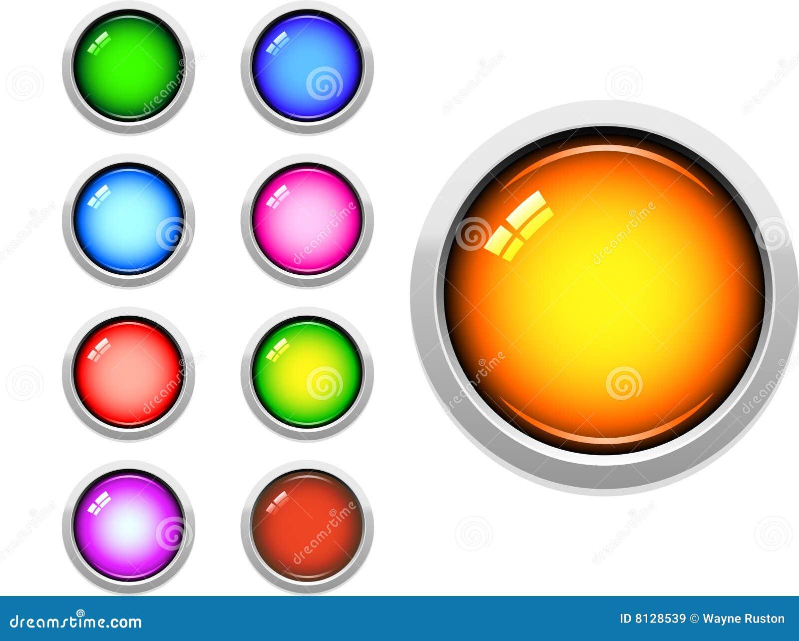 στιλπνός Ιστός κουμπιών
