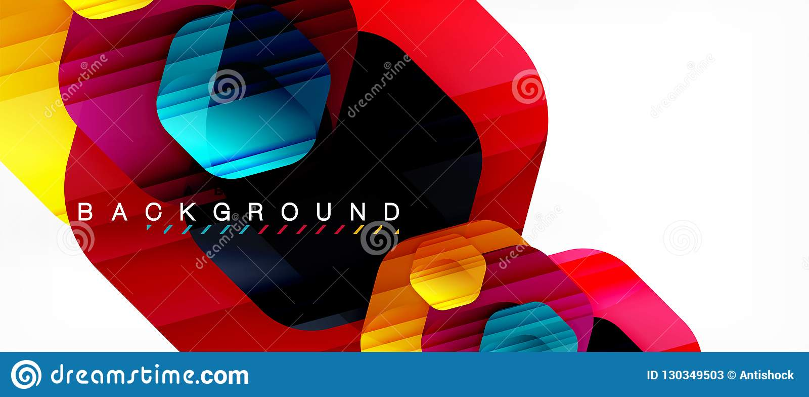 Στιλπνό hexagons χρώματος σύγχρονο υπόβαθρο σύνθεσης, λαμπρό σχέδιο γυαλιού