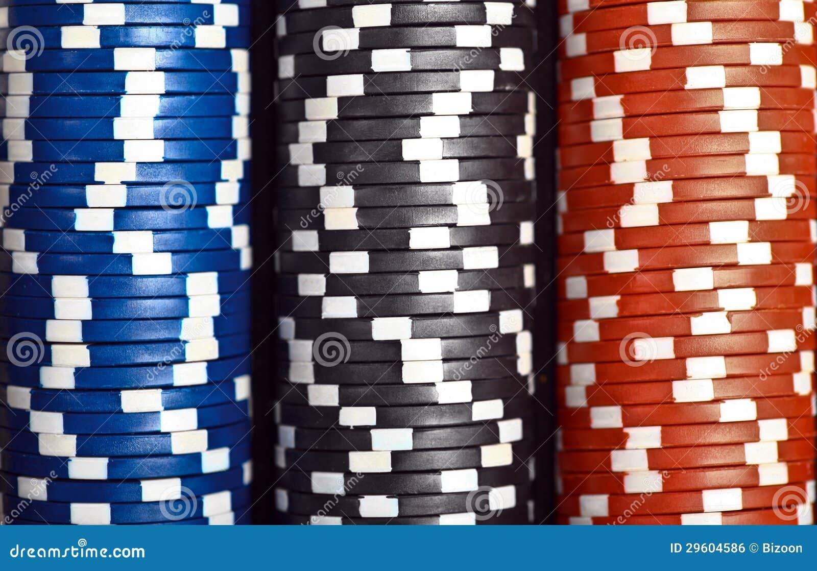 Στοίβα των τσιπ πόκερ