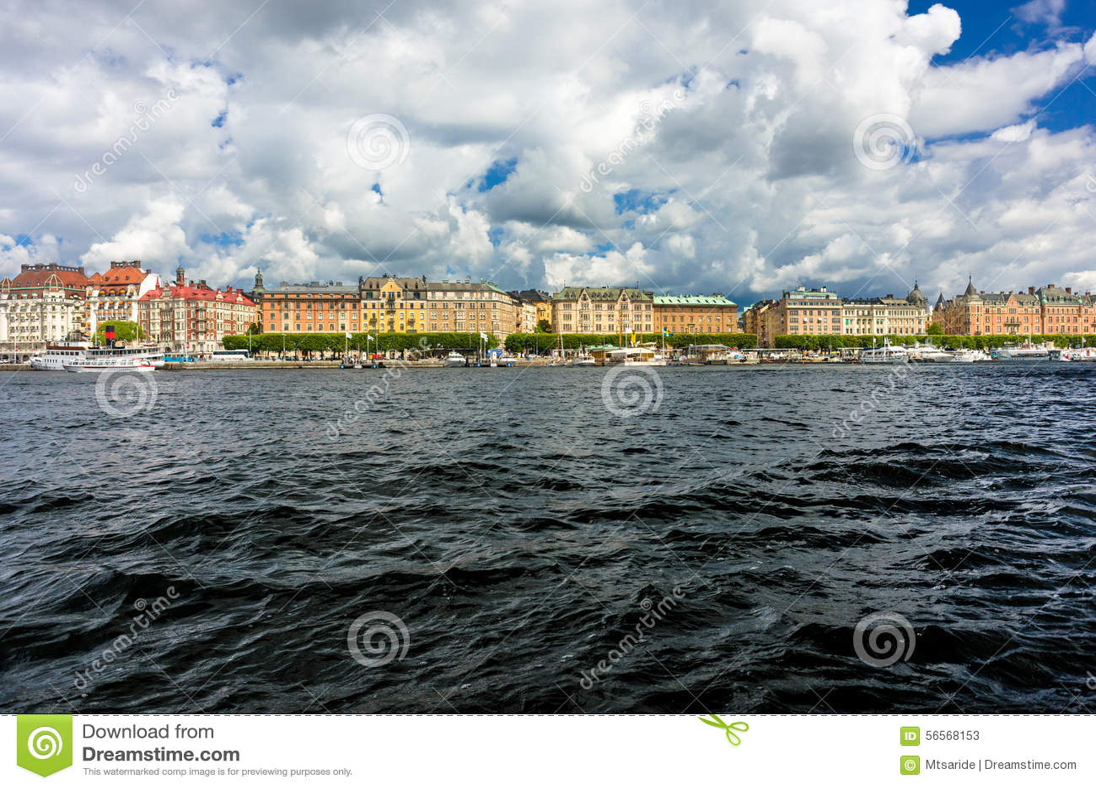 Download Στοκχόλμη από το νερό στοκ εικόνα. εικόνα από λίμνη, ημέρα - 56568153
