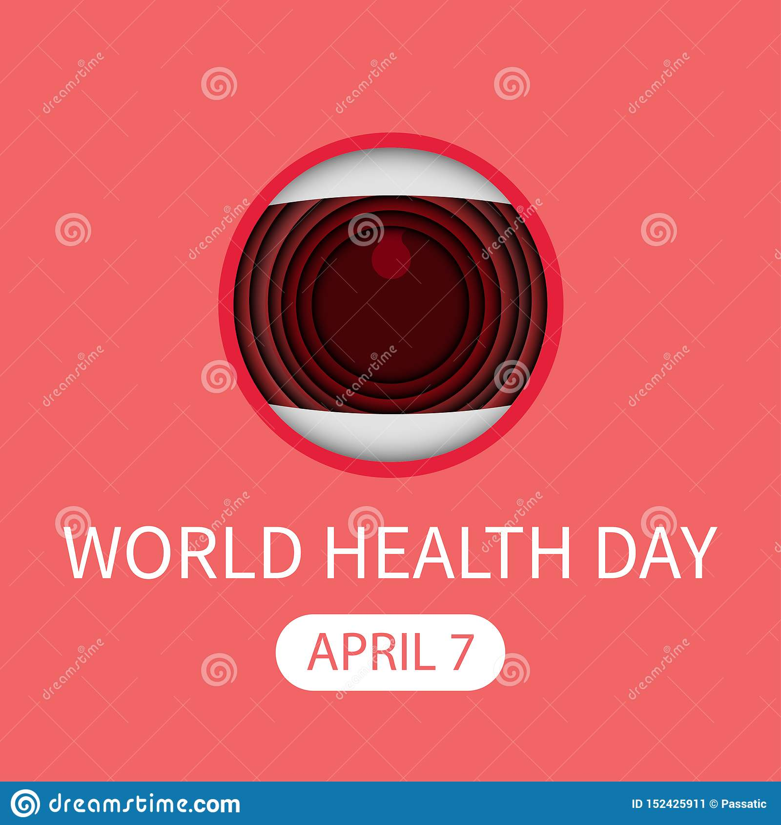 στοματική ευχετήρια κάρτα Απρίλιος παγκόσμιας healt ημέρας