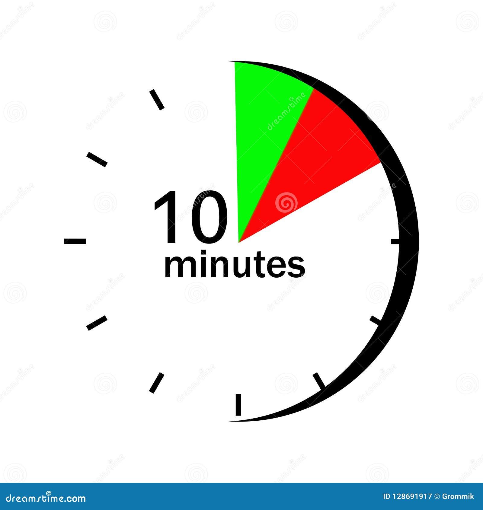 Στον πίνακα ρολογιών στους κόκκινους και πράσινους χαρακτηρισμένους τομείς 10 λεπτών