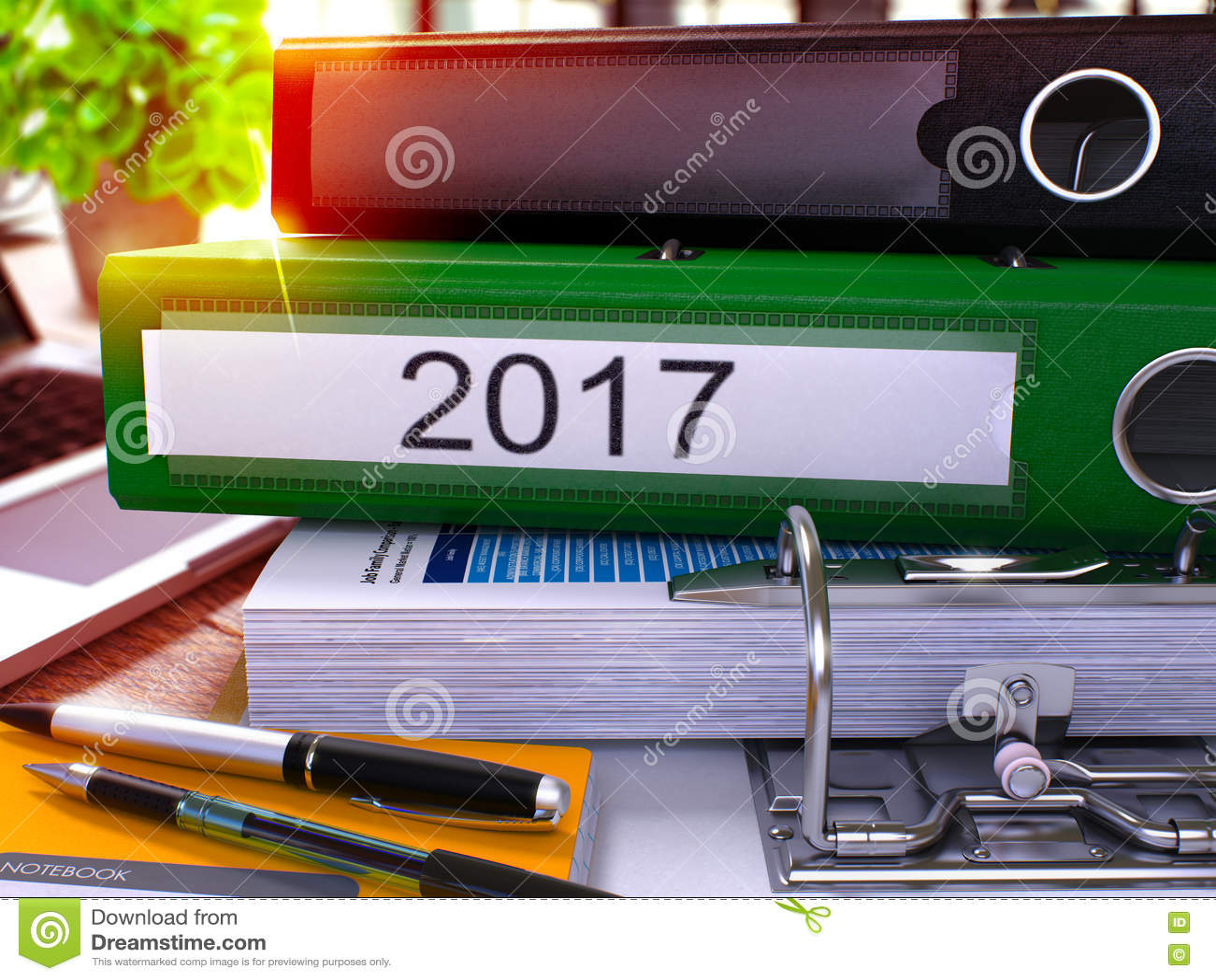 2017 στον πράσινο σύνδεσμο δαχτυλιδιών Θολωμένη, τονισμένη εικόνα τρισδιάστατος