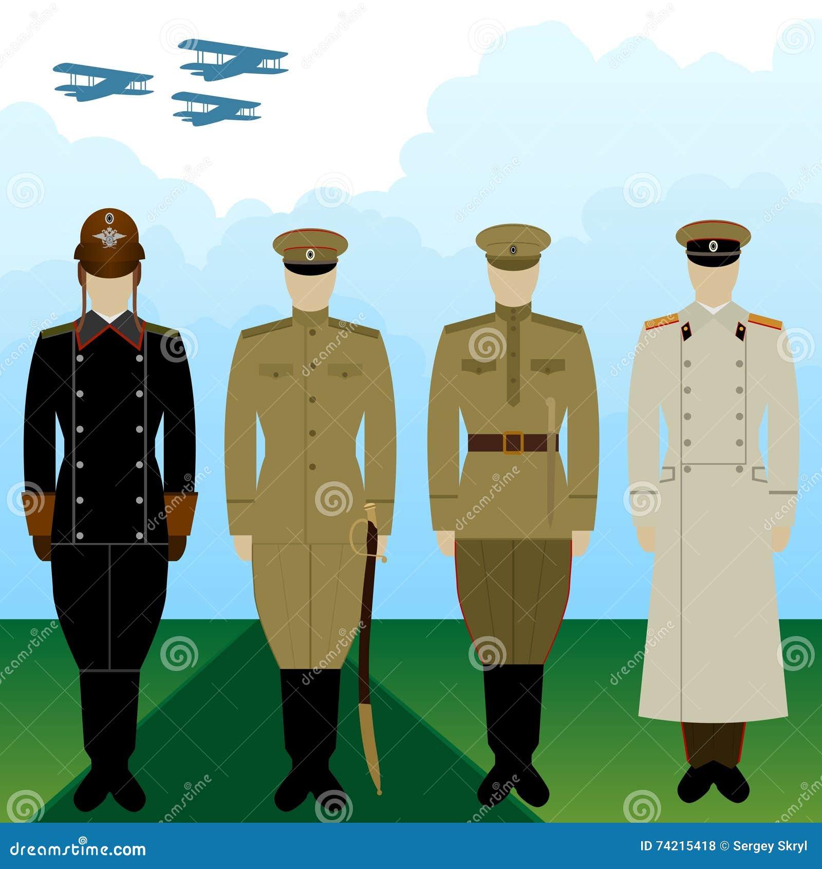 0cdf5ec6b29 Στολές στρατιωτική πειραματική τσαρική Ρωσία Διανυσματική απεικόνιση ...