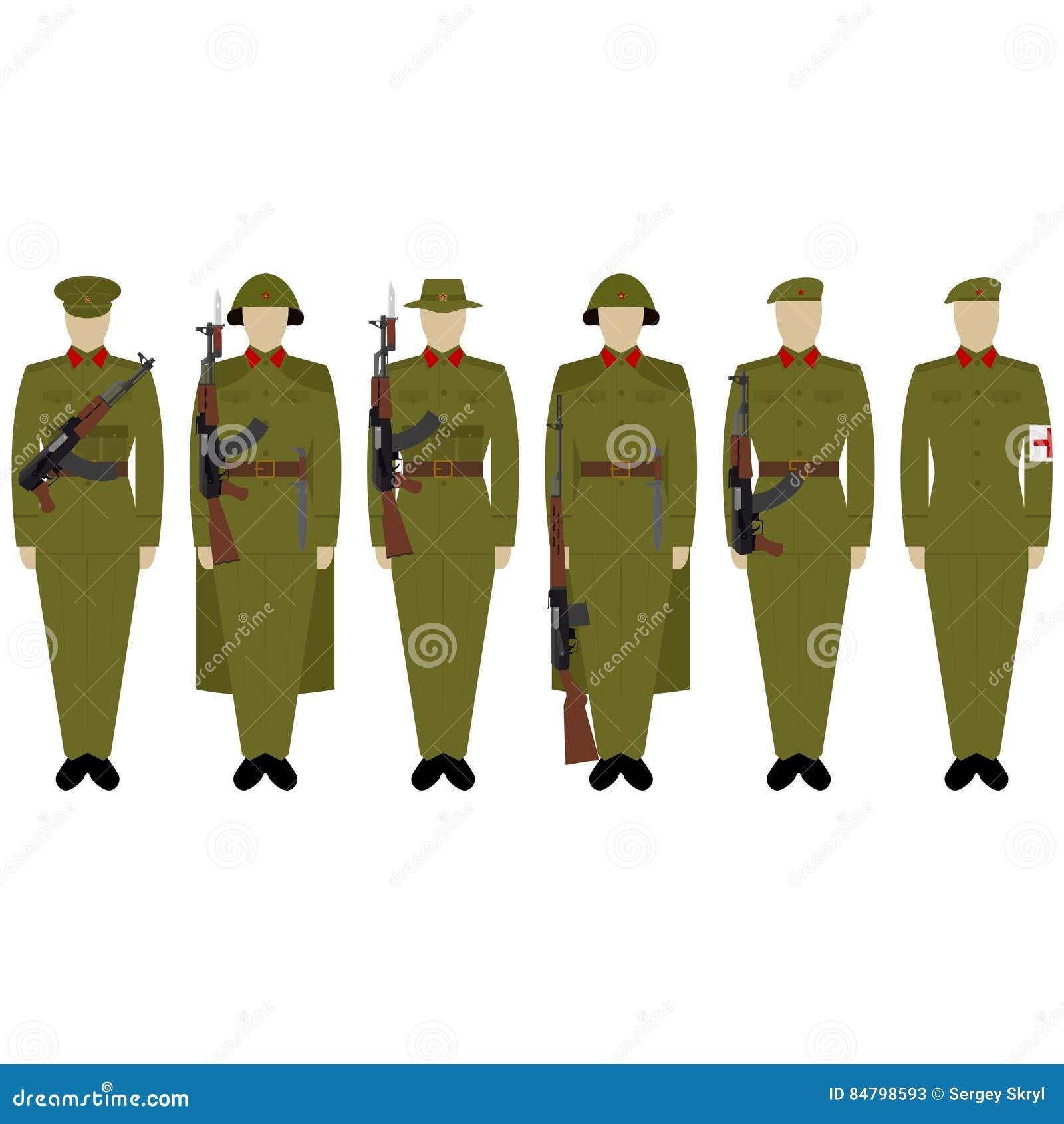04047914892 Στολές στρατού του Βιετνάμ διανυσματική απεικόνιση. εικονογραφία από ...