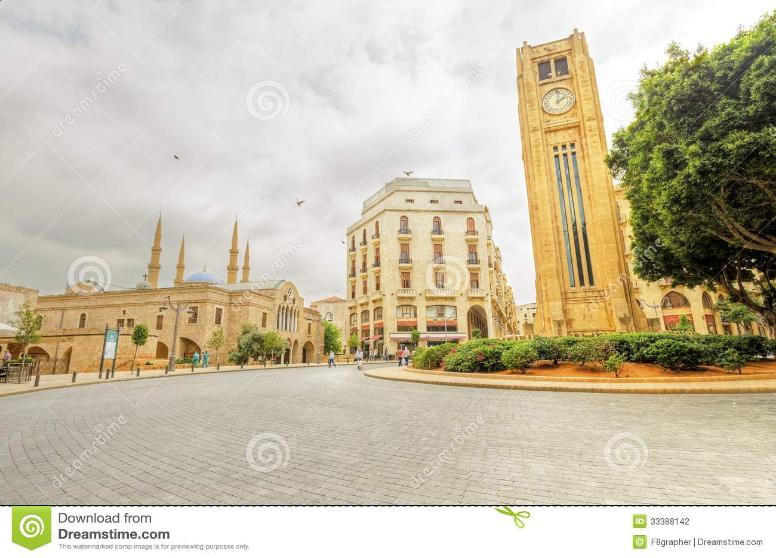 Στο κέντρο της πόλης Βηρυττός, Λίβανος