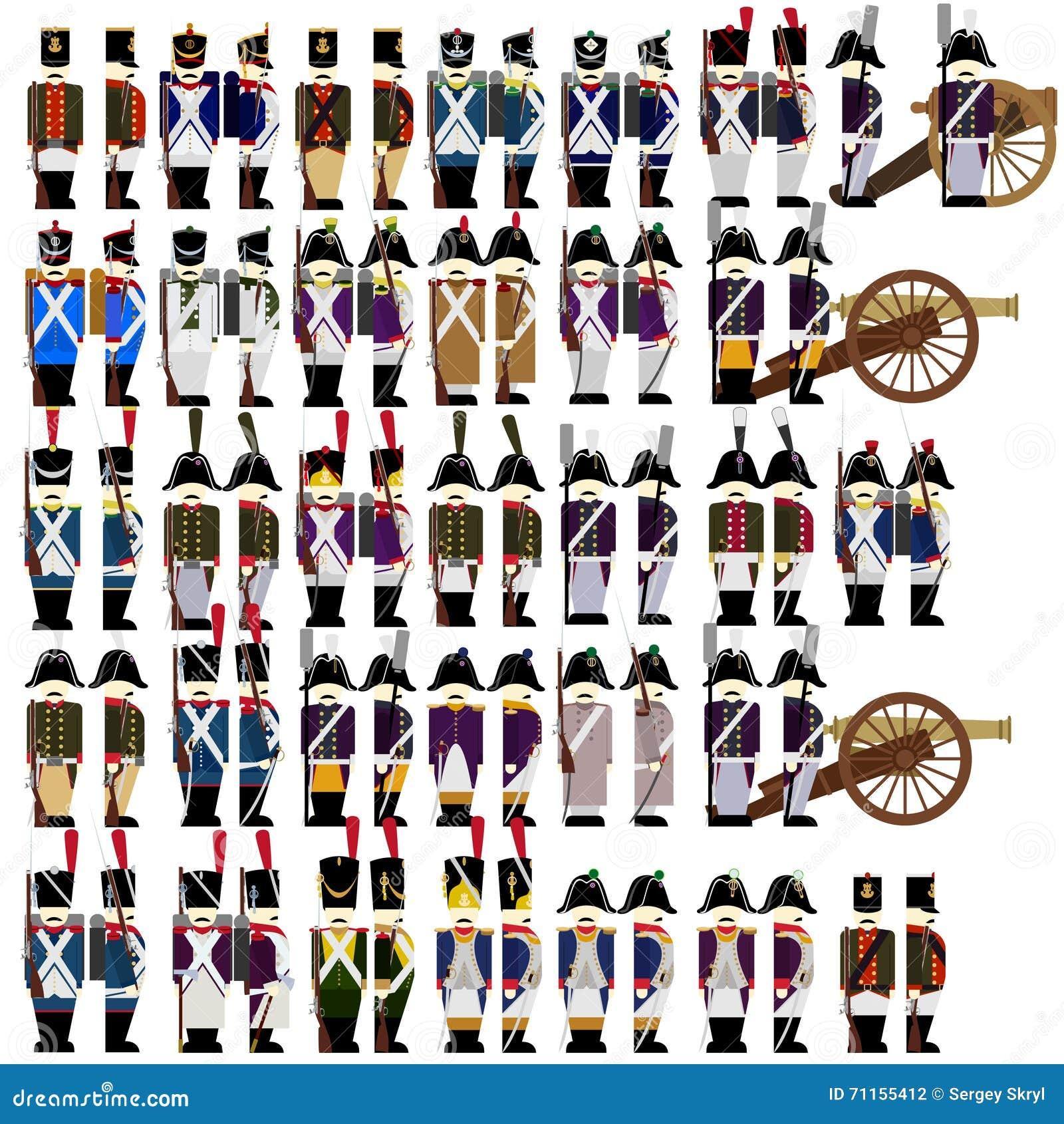4063f28e33b Στρατιωτικές στολές του γαλλικού στρατού το 1812 Διανυσματική ...