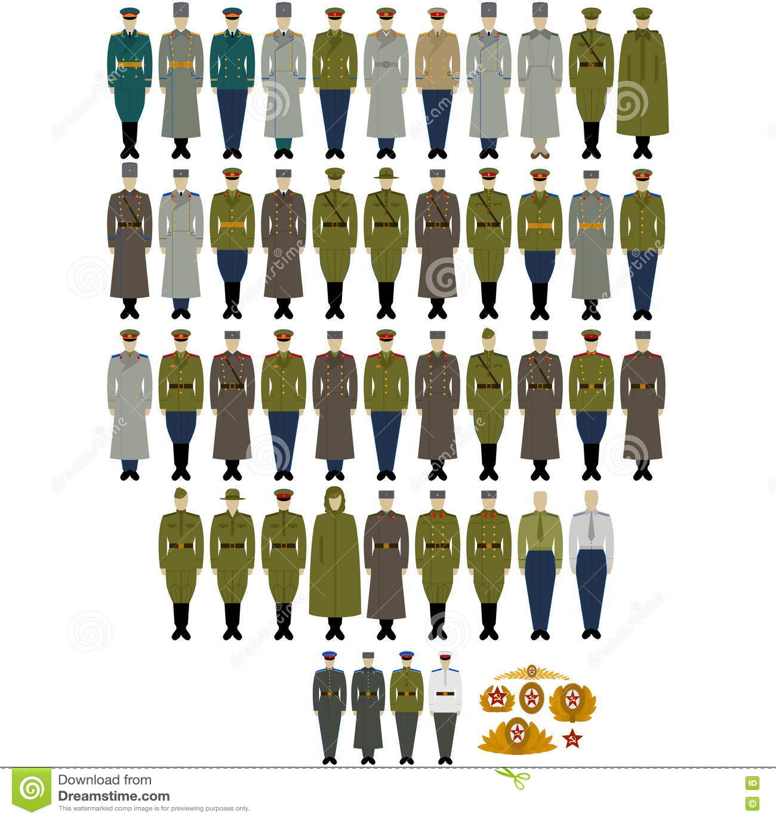 d02e9314d59 Στρατιωτικές στολές του σοβιετικών στρατού και του ναυτικού ...