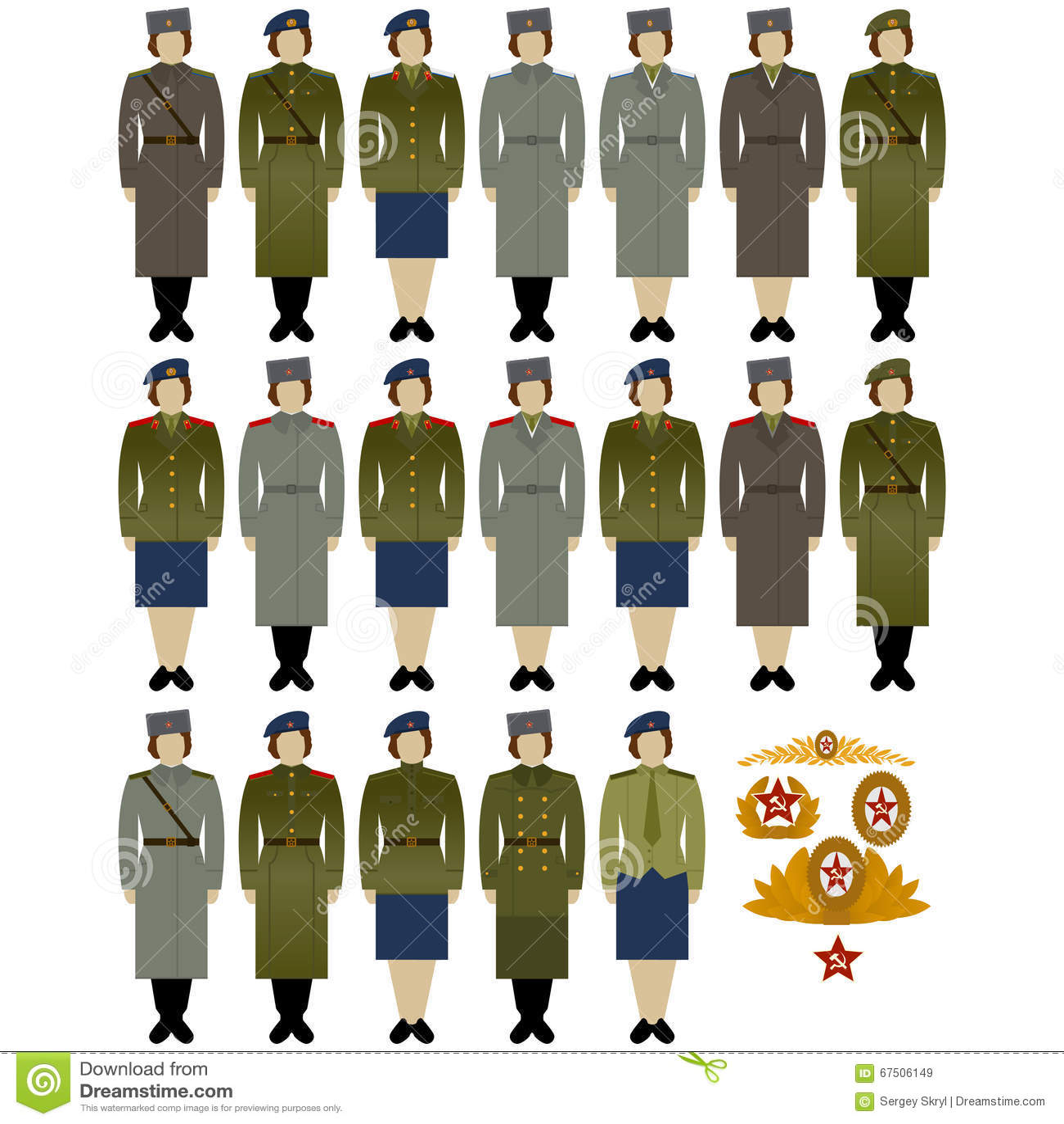 5595c0418df Στρατιωτικές στολές του σοβιετικών στρατού και του ναυτικό-1 ...
