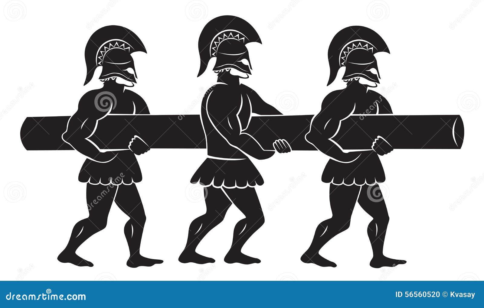 Download Στρατιώτες με έναν κριό ξύλου Απεικόνιση αποθεμάτων - εικονογραφία από ancientness, άλογα: 56560520