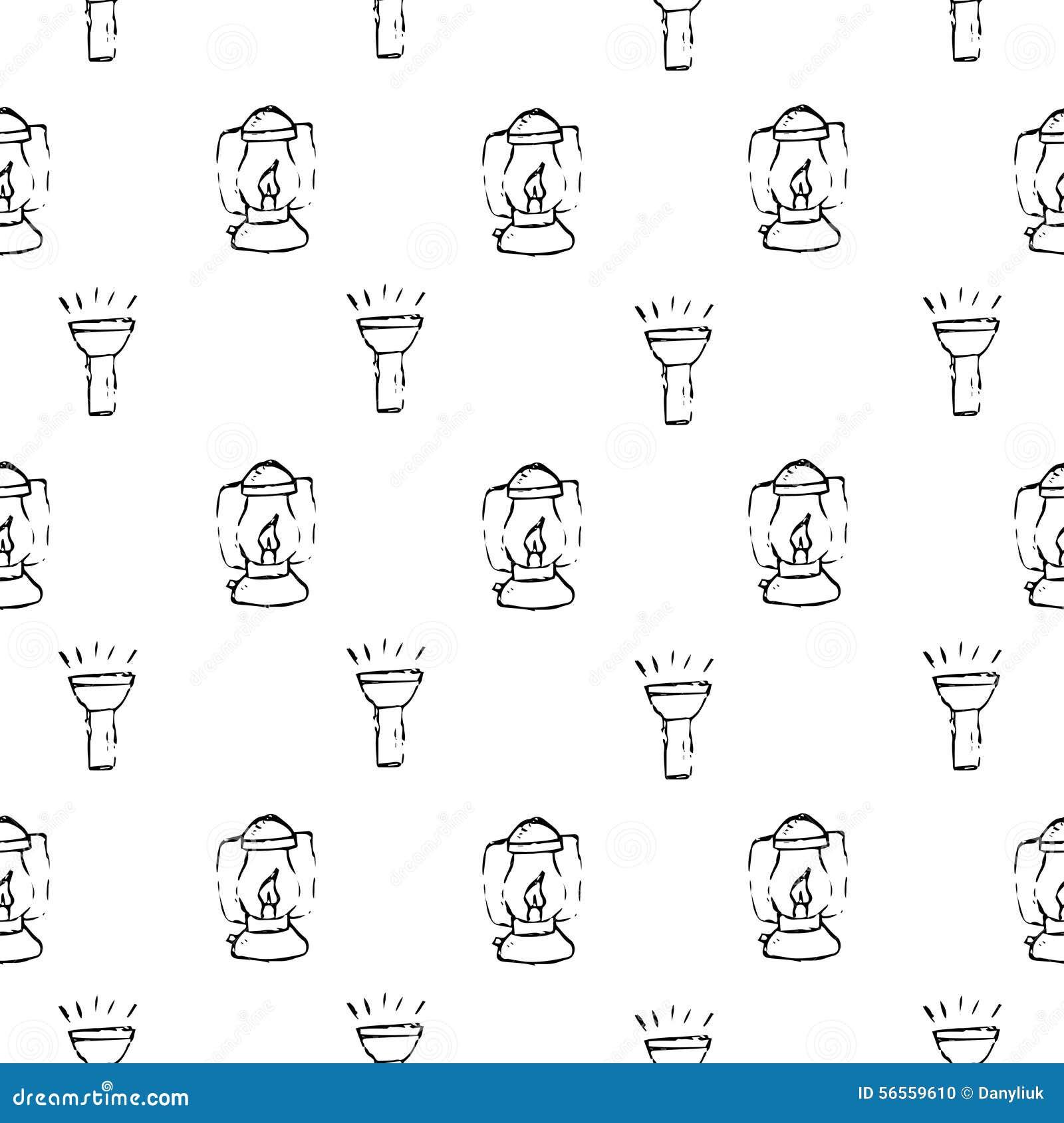 Download Στρατοπέδευση - Doodles συλλογή Συρμένο χέρι άνευ ραφής σχέδιο στρατοπέδευσης Απεικόνιση αποθεμάτων - εικονογραφία από συλλογή, ποταμός: 56559610