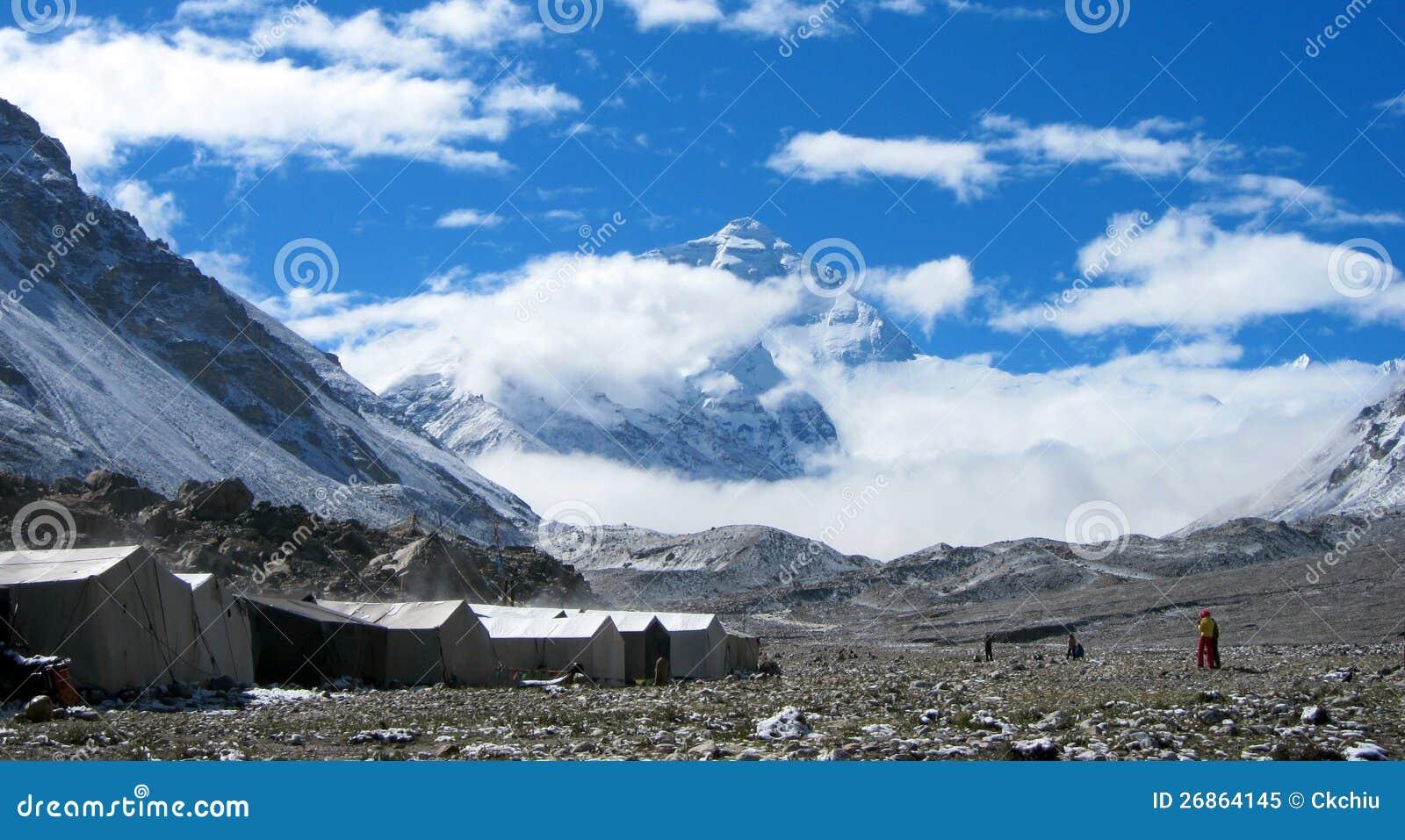 Στρατόπεδο βάσεων Everest στο Θιβέτ