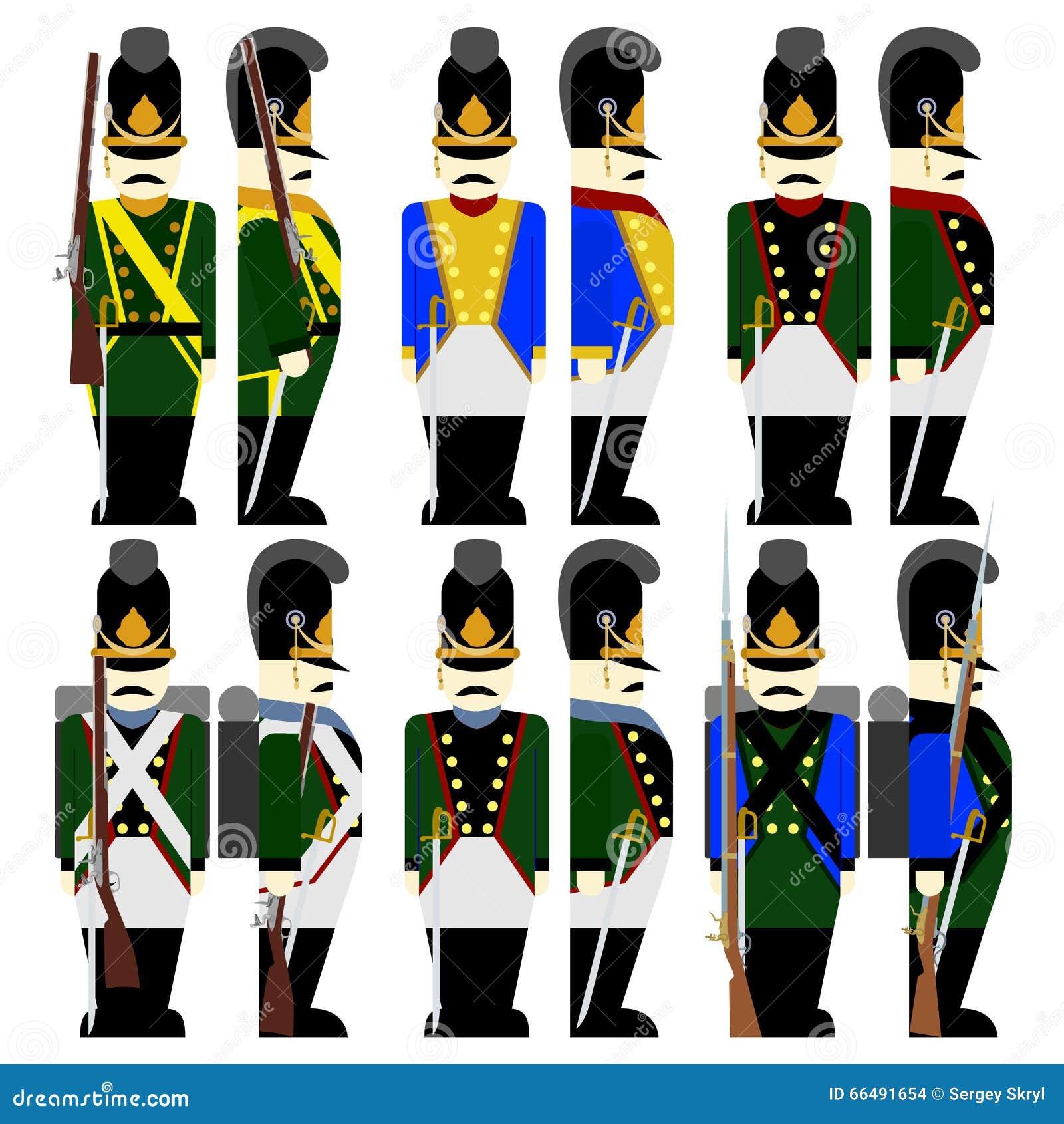 be6c3196839 Στρατός Βαυαρία στρατιωτικών στολών το 1812-2 Διανυσματική ...