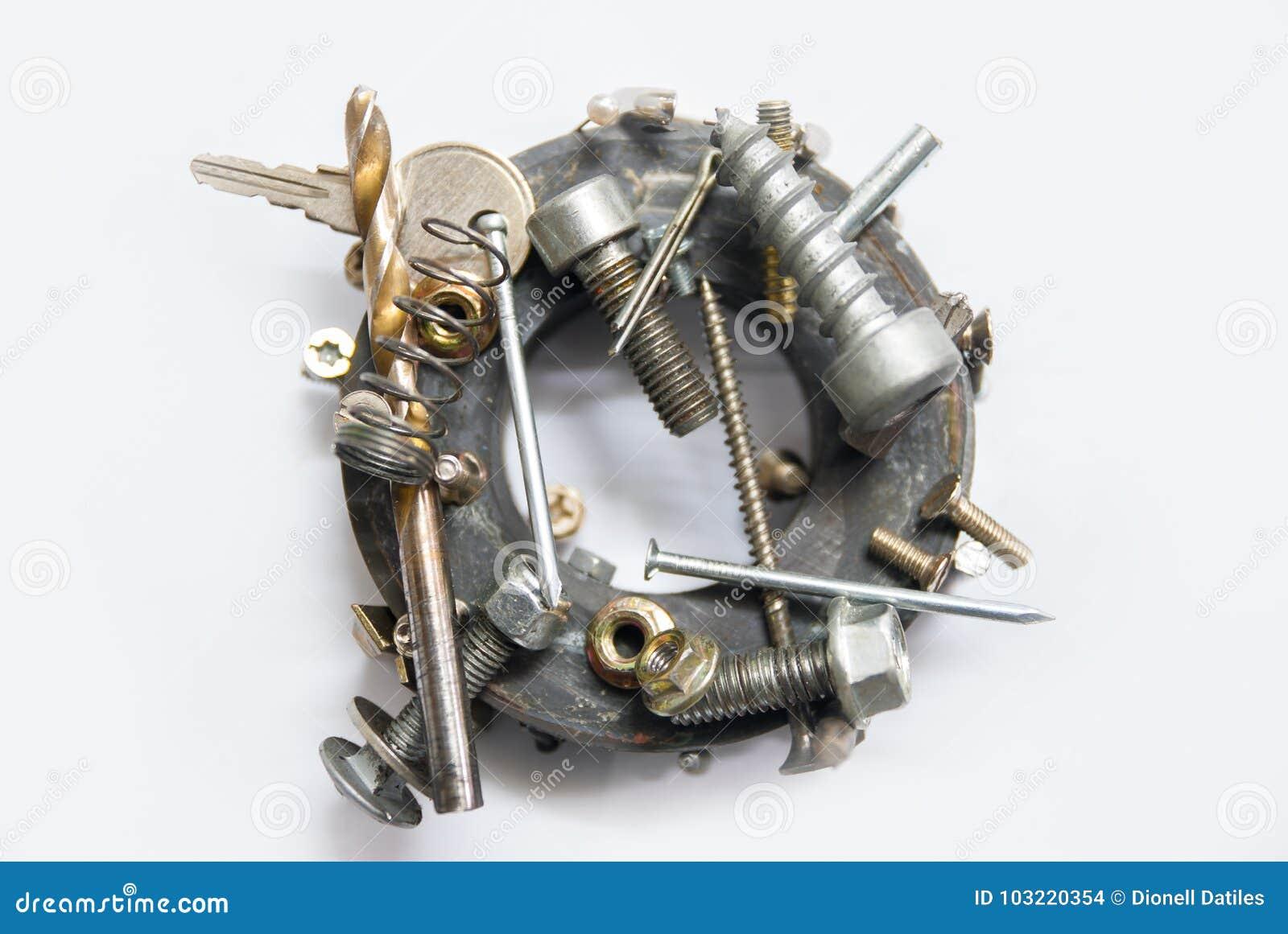 Στρογγυλοί μαγνήτης και μέταλλα