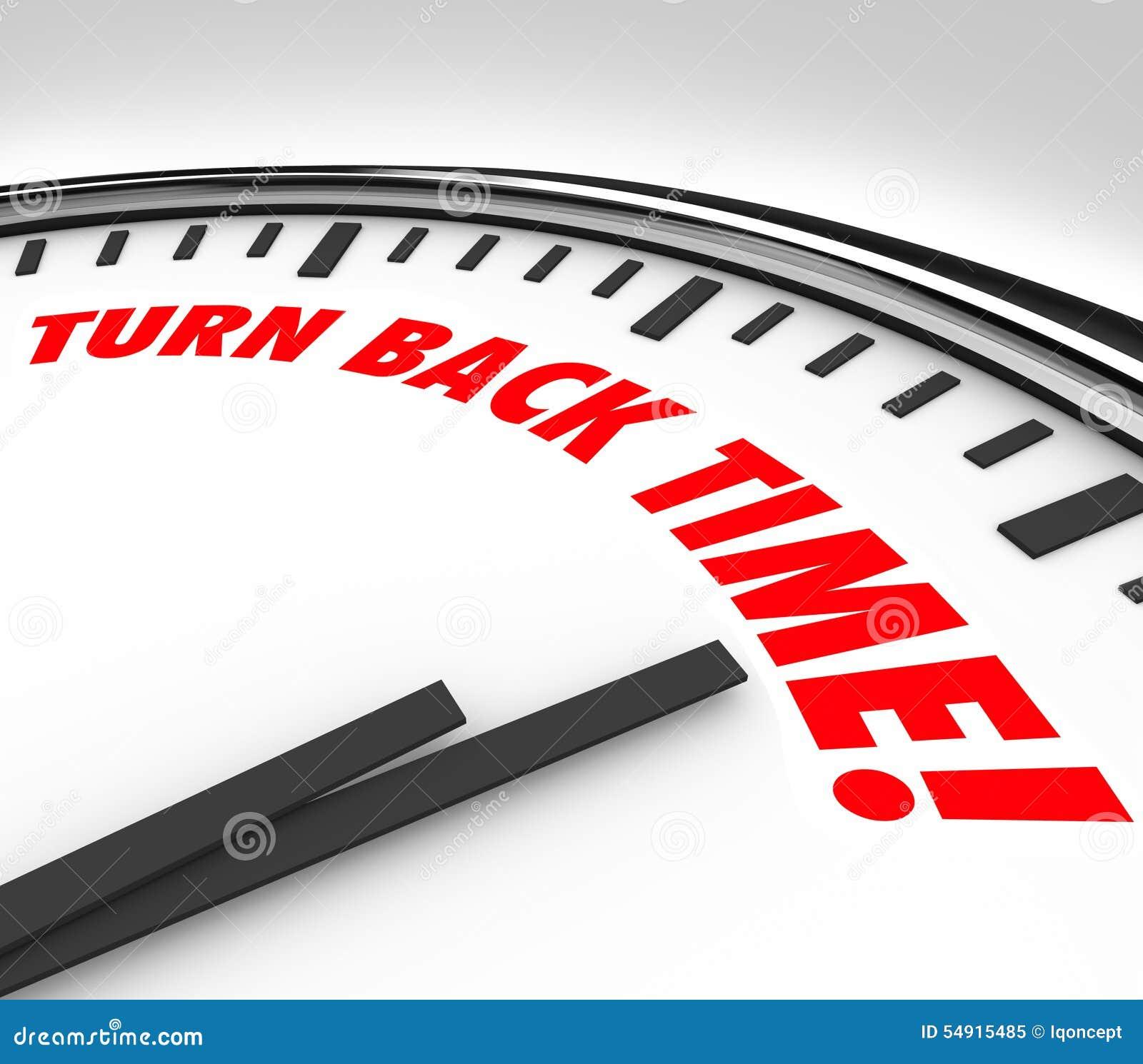Στροφής πίσω αναδρομή στο παρελθόν γήρανσης χρονικών ρολογιών αντίστροφη