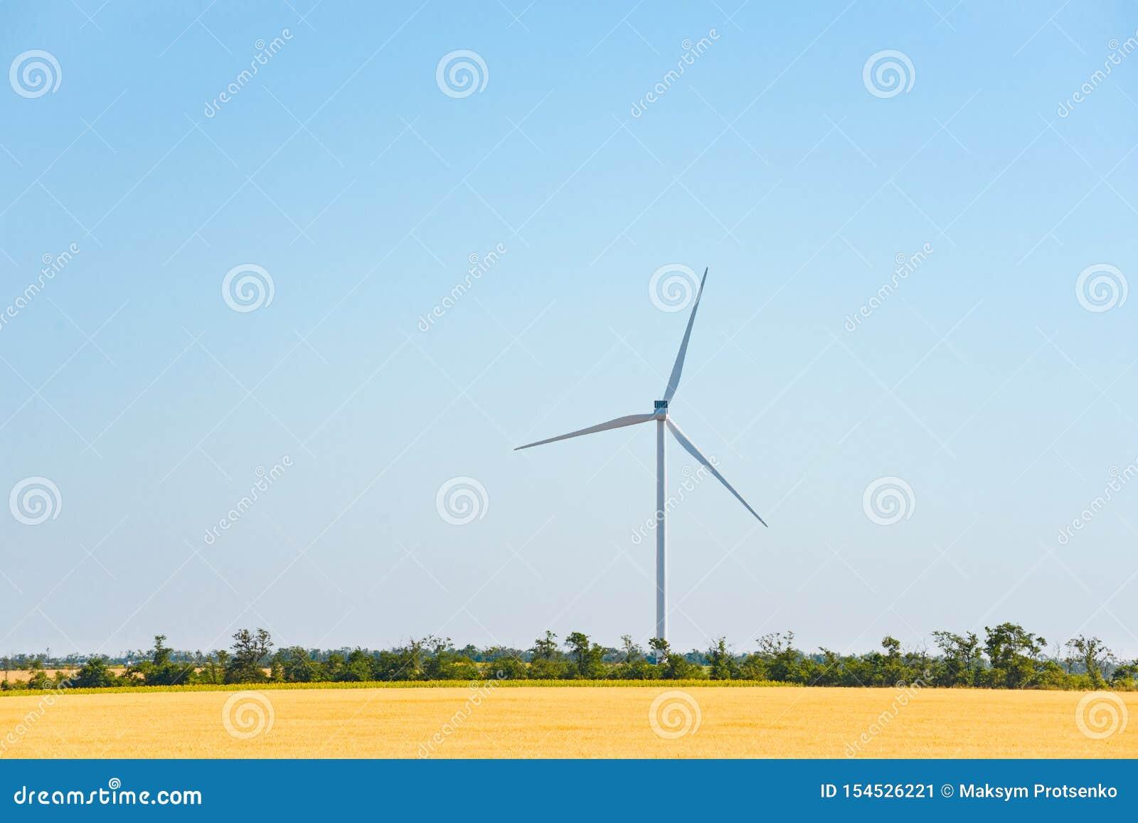 Στρόβιλος γεννητριών αέρα στον τομέα Πράσινη έννοια ανανεώσιμης ενέργειας