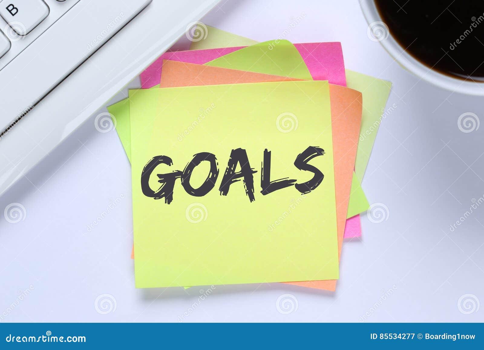 Στόχοι στόχου στο γραφείο φιλοδοξιών και αύξησης επιτυχίας