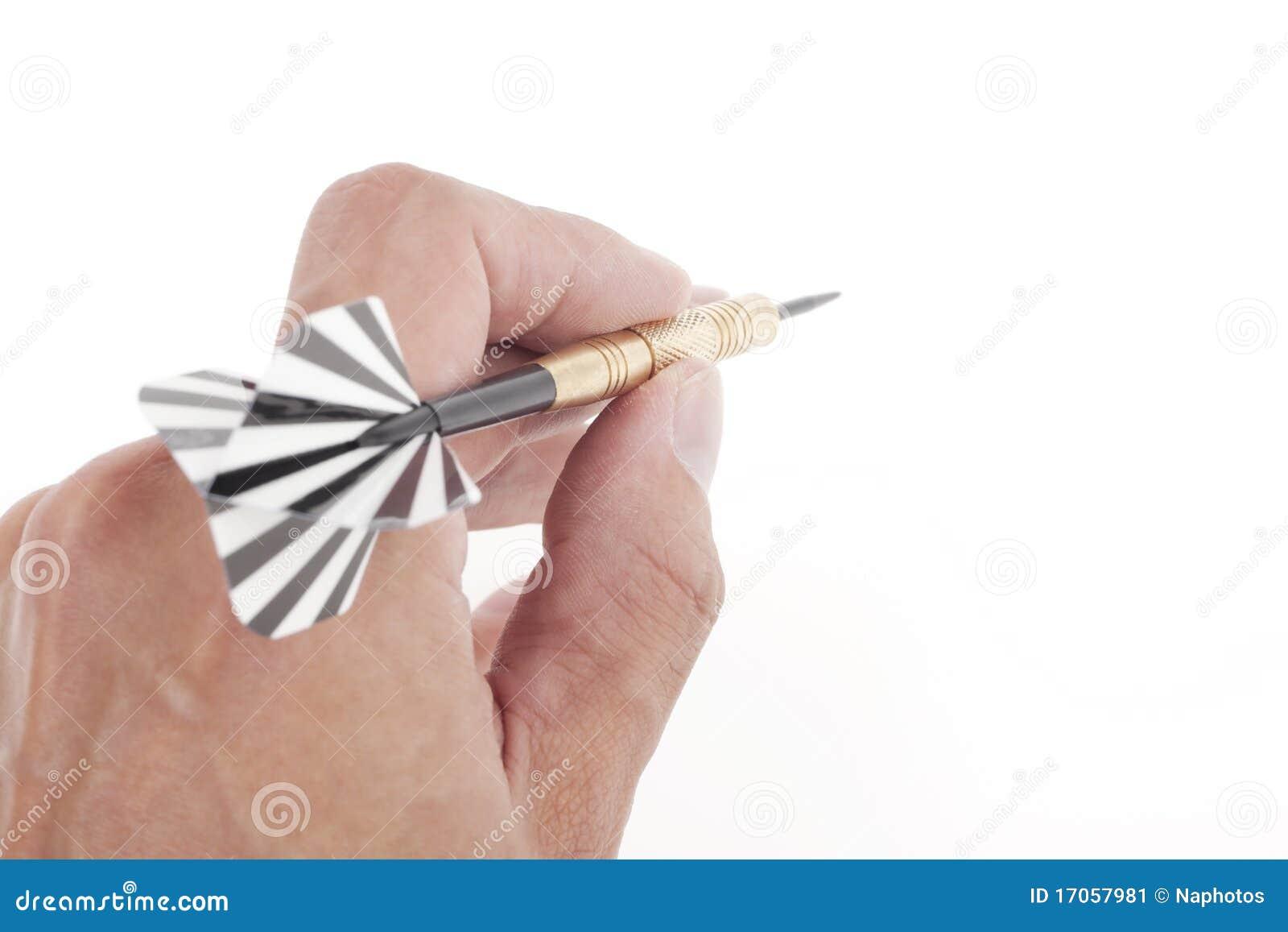 στόχος χεριών βελών που ρίχ