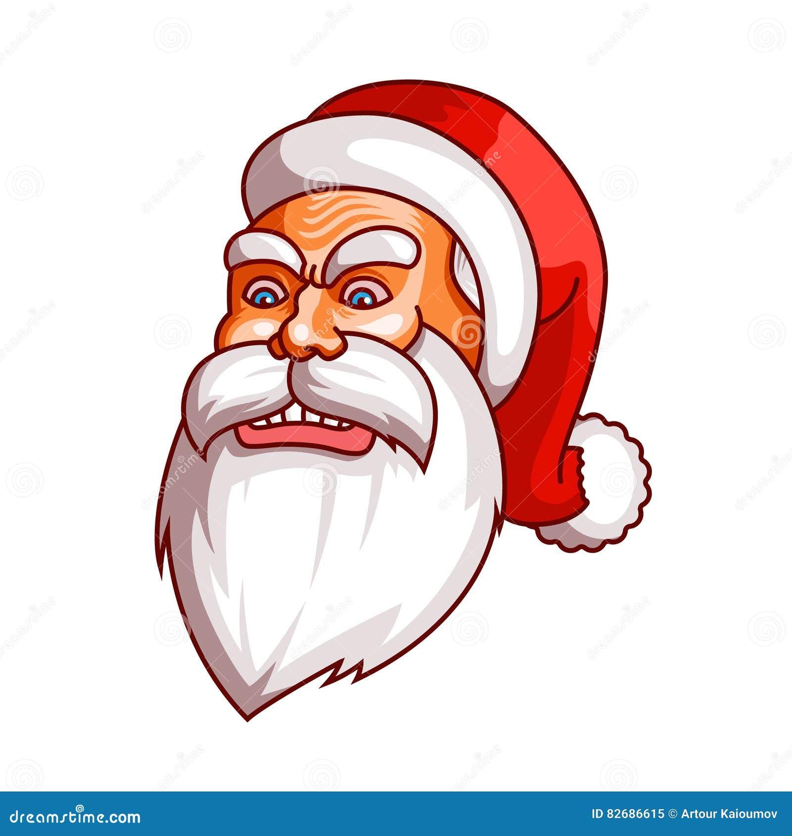 Συγκινήσεις Άγιου Βασίλη Μέρος του συνόλου Χριστουγέννων Οργή, έξαλλη συμπεριφορά, θυμός Έτοιμος για την τυπωμένη ύλη