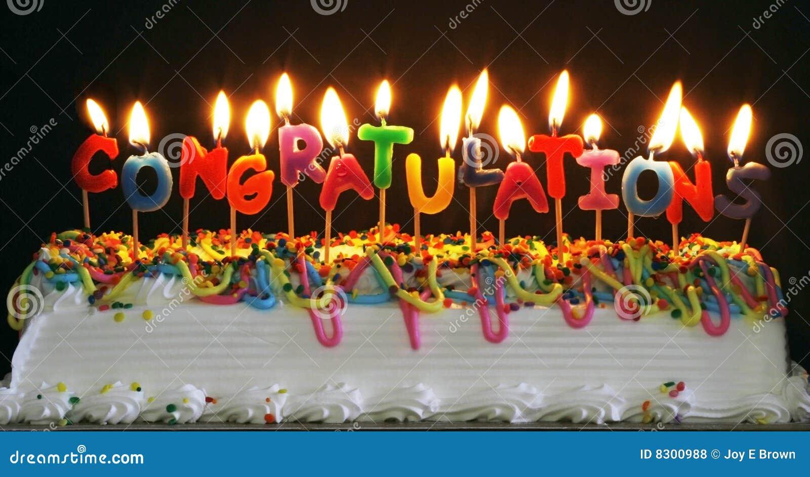 συγχαρητήρια κεριών κέικ